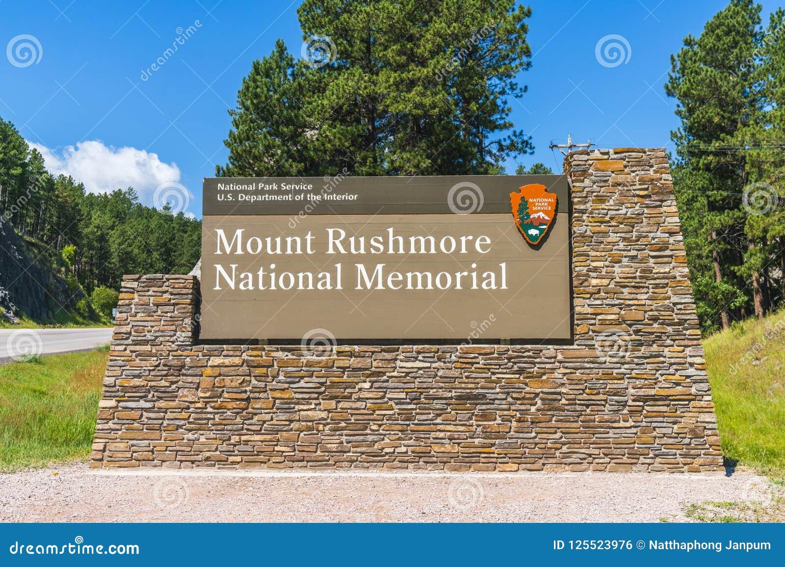 Mémorial national du mont Rushmore, le Dakota du Sud, Etats-Unis 07-28-17 : MOIS
