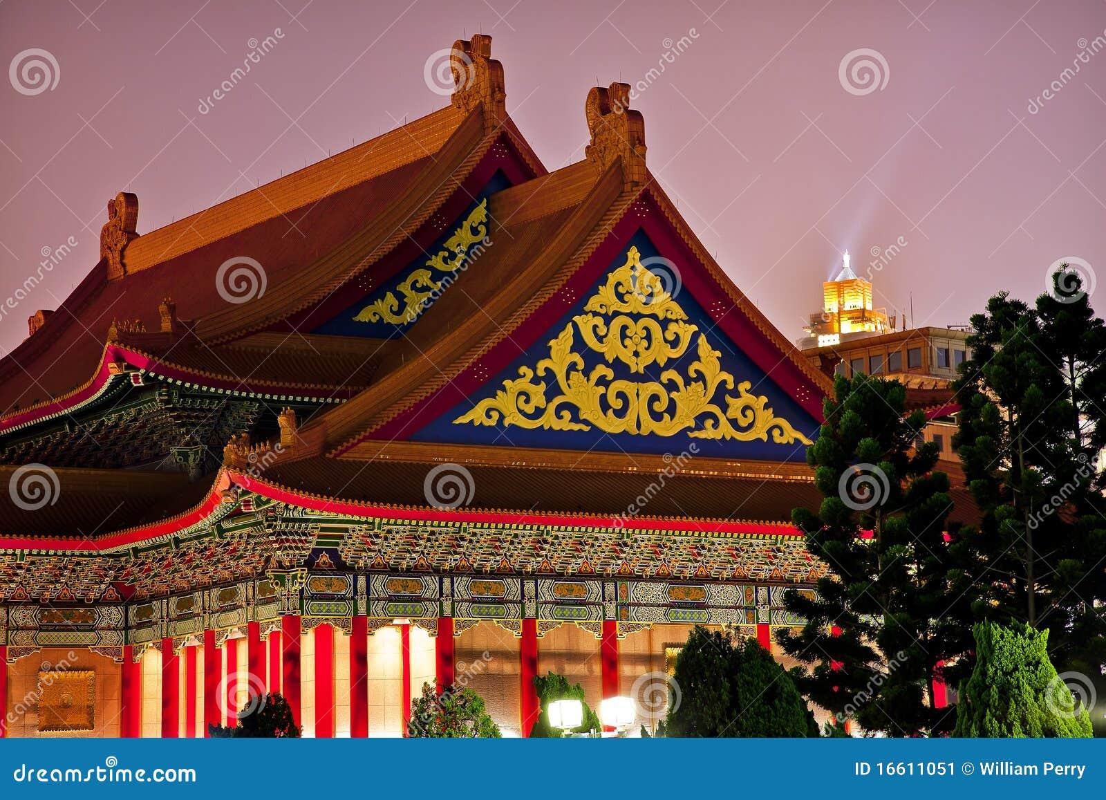 Mémorial national Taiwan de Chiang de théatre de l $opéra