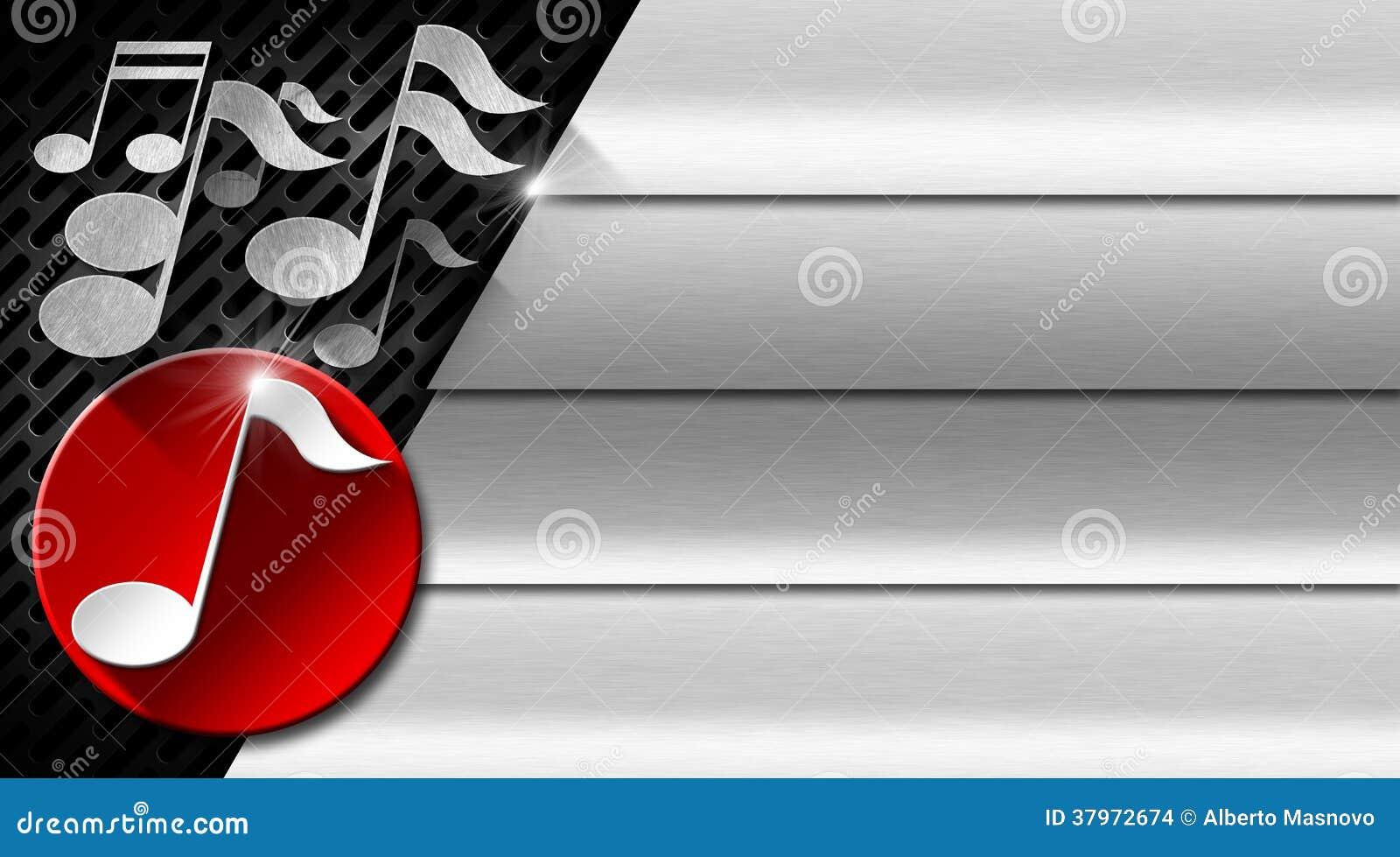 Mtal De Musique Et Carte Visite Professionnelle Rouge Illustration Libre Droits