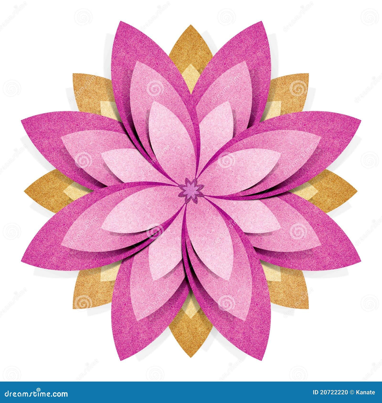 Métier De Papier Réutilisé Par Origami De Fleur Photo Stock Image