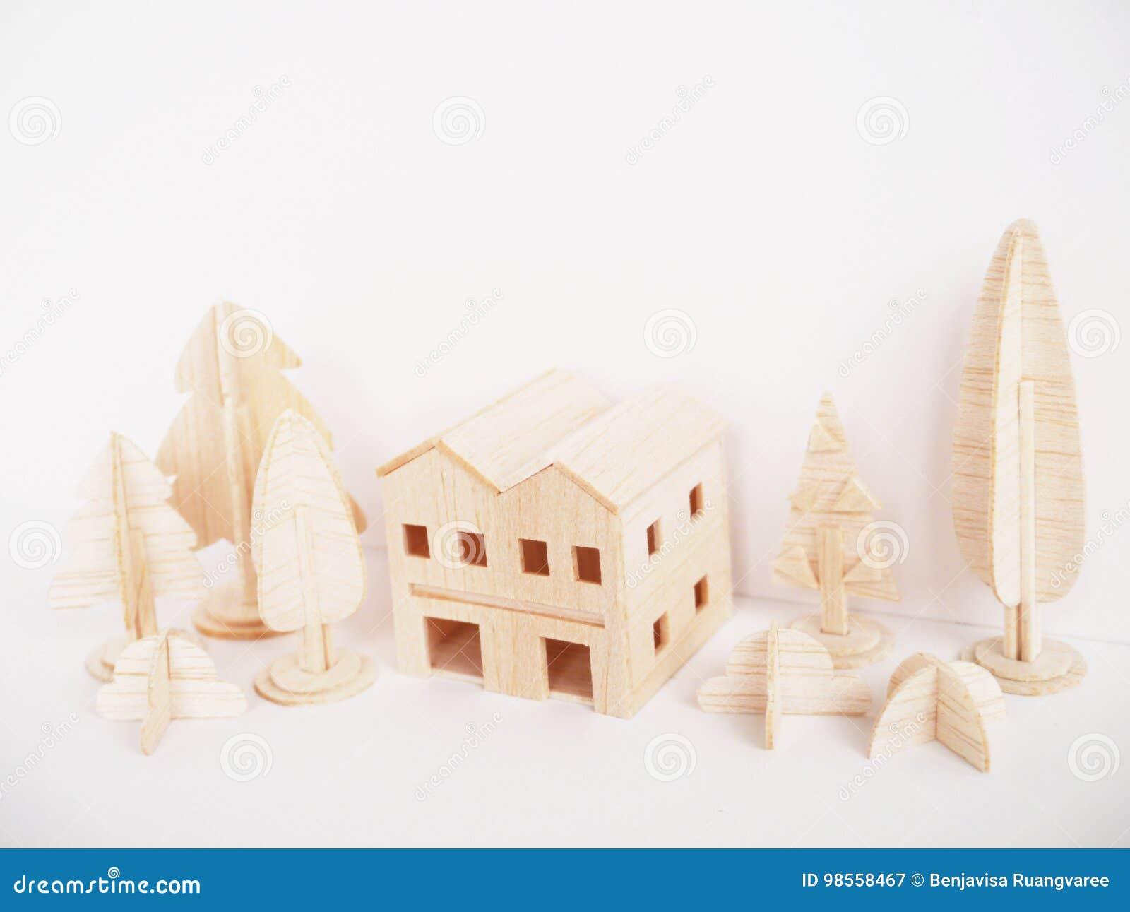 Mínimo hecho a mano del corte del arte modelo de madera miniatura de las ilustraciones