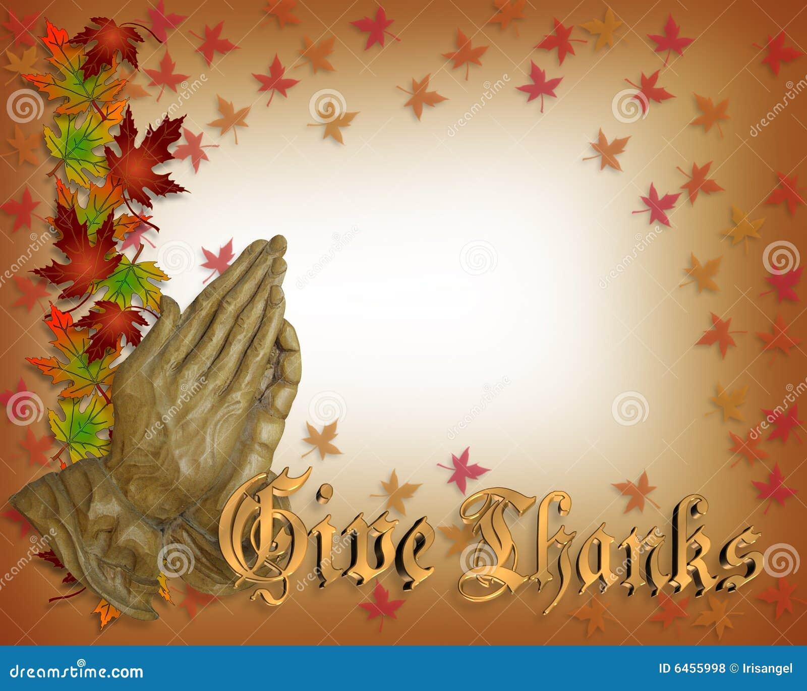 Módl się w Święto dziękczynienia ręce