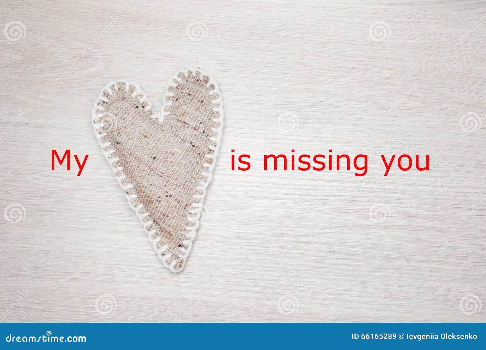 Mój serce brakuje ciebie
