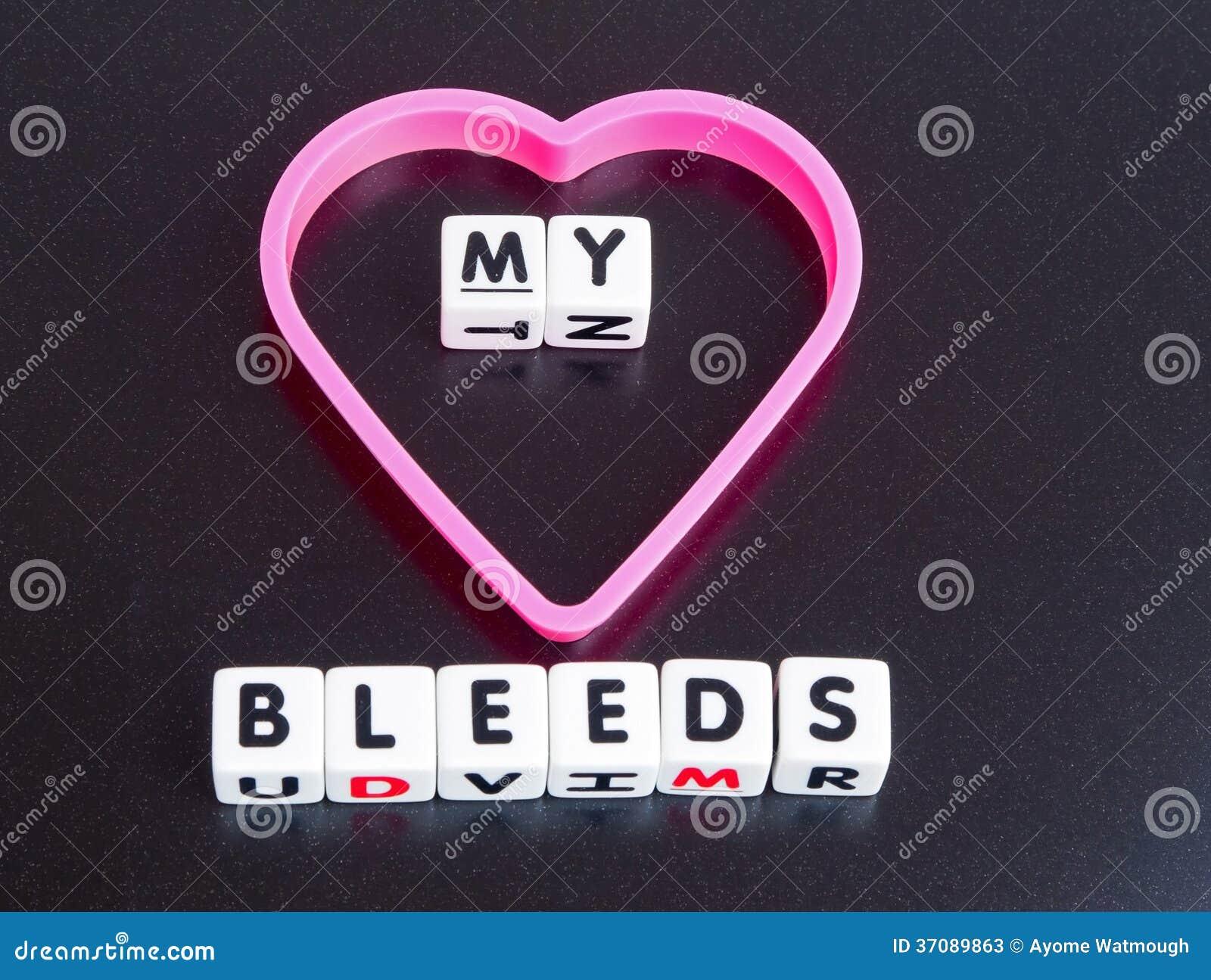 Download Mój serce krwawi obraz stock. Obraz złożonej z smucenie - 37089863
