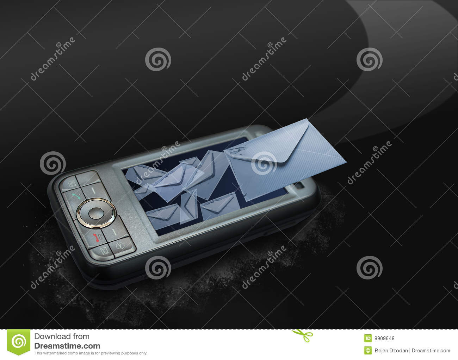 Móvil que envía mensajes