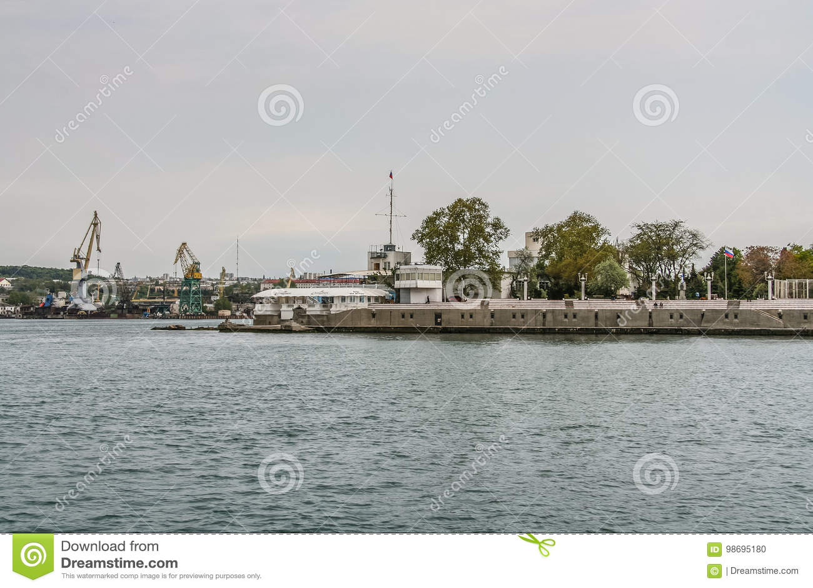 Mównica marynarka wojenna na bulwarze
