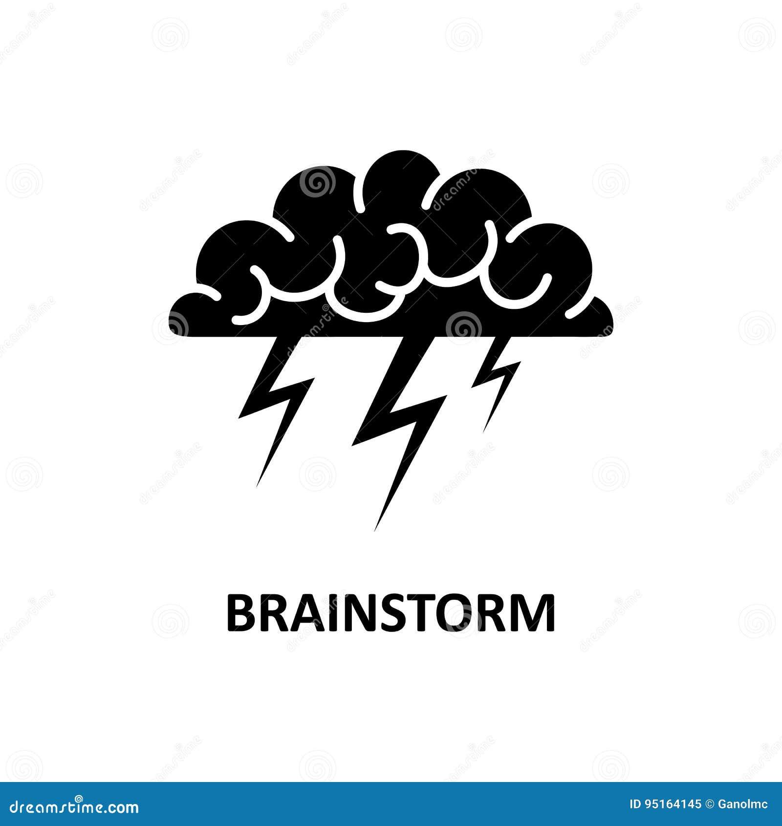 Mózg, brainstorming, pomysł, twórczość logo i ikona, wektor