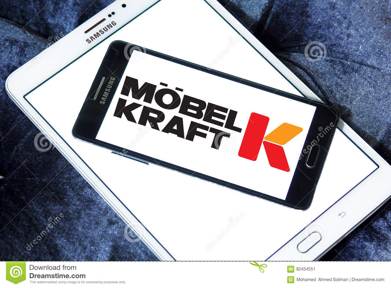 logo of the international chain of furniture stores mobel kraft on samsung mobile on samsung tablet