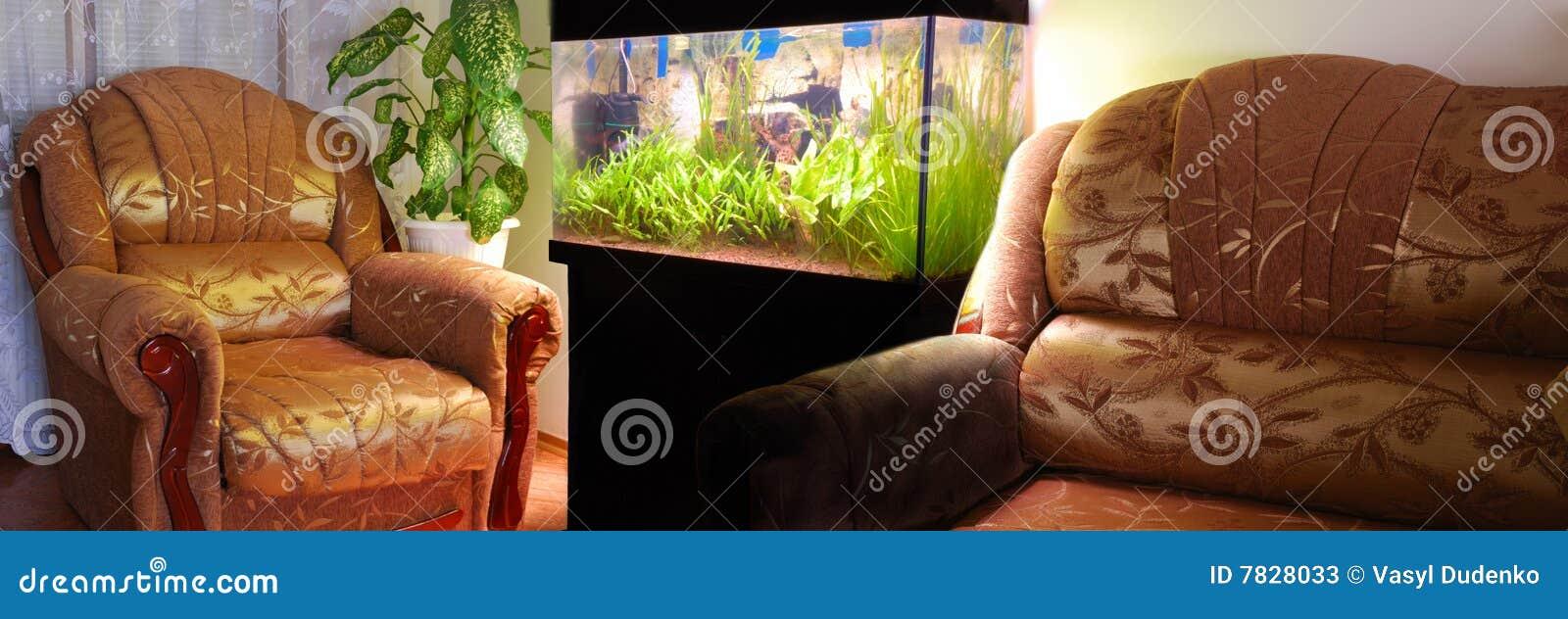 Charmant Download Möbel Und Aquarium Stockbild. Bild Von Innen, Tageslicht   7828033
