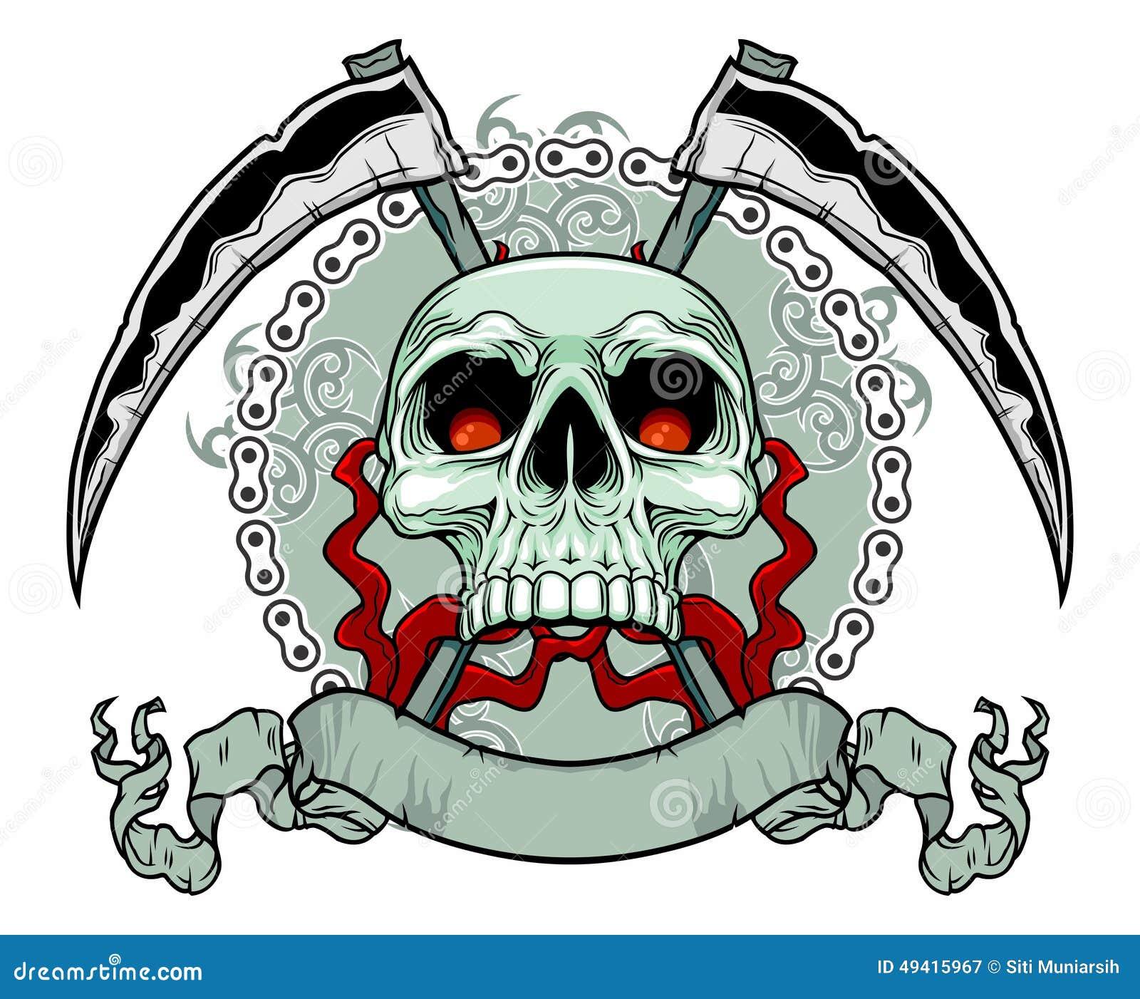 Download Mörderschädel stock abbildung. Illustration von gestaltungsarbeit - 49415967