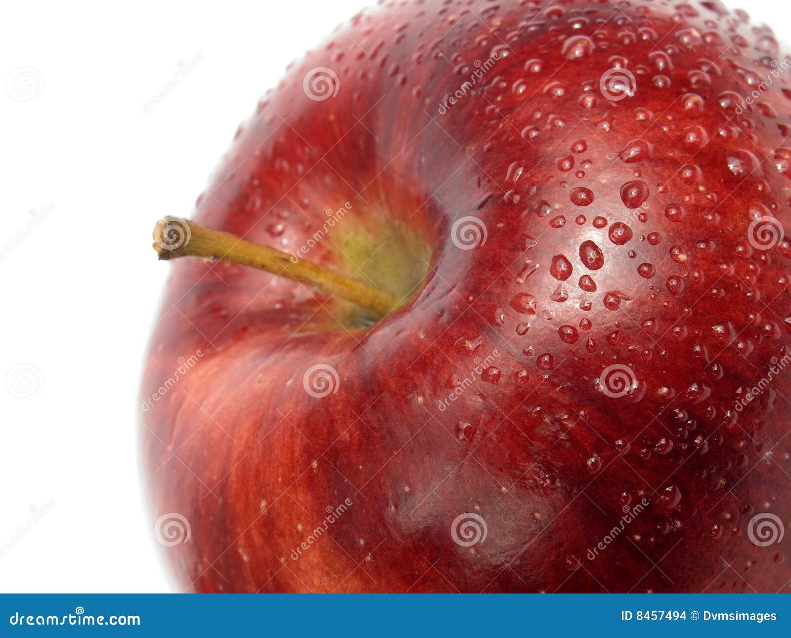Mörk detaljred för äpple