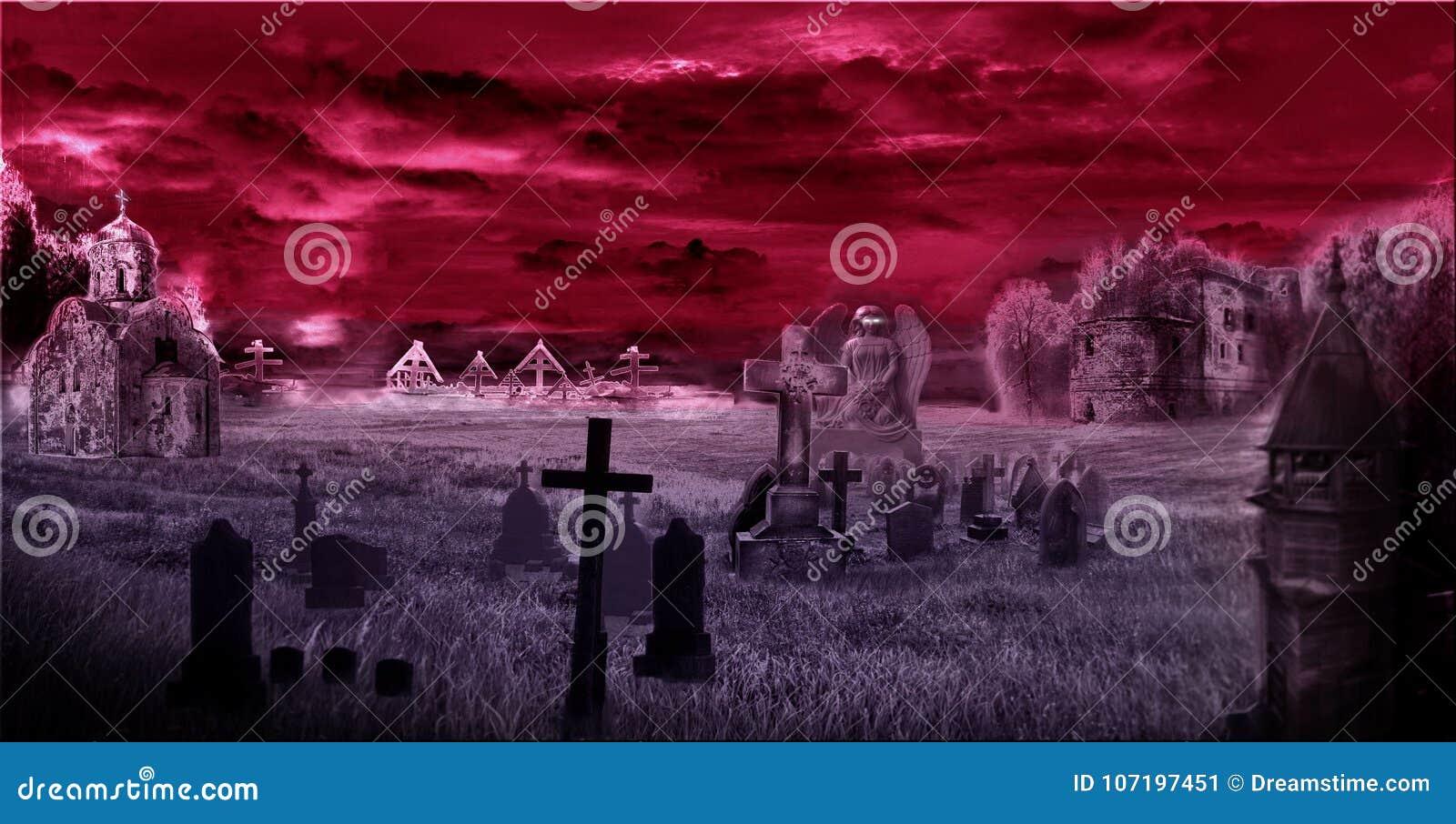 Mörk kyrkogård, digipak, konst, tempel