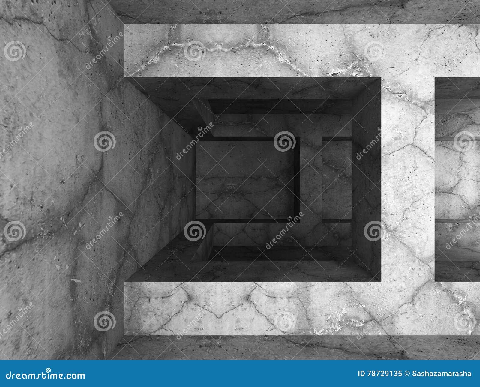 Mörk tom betongvägginre Infustrial modern architectur
