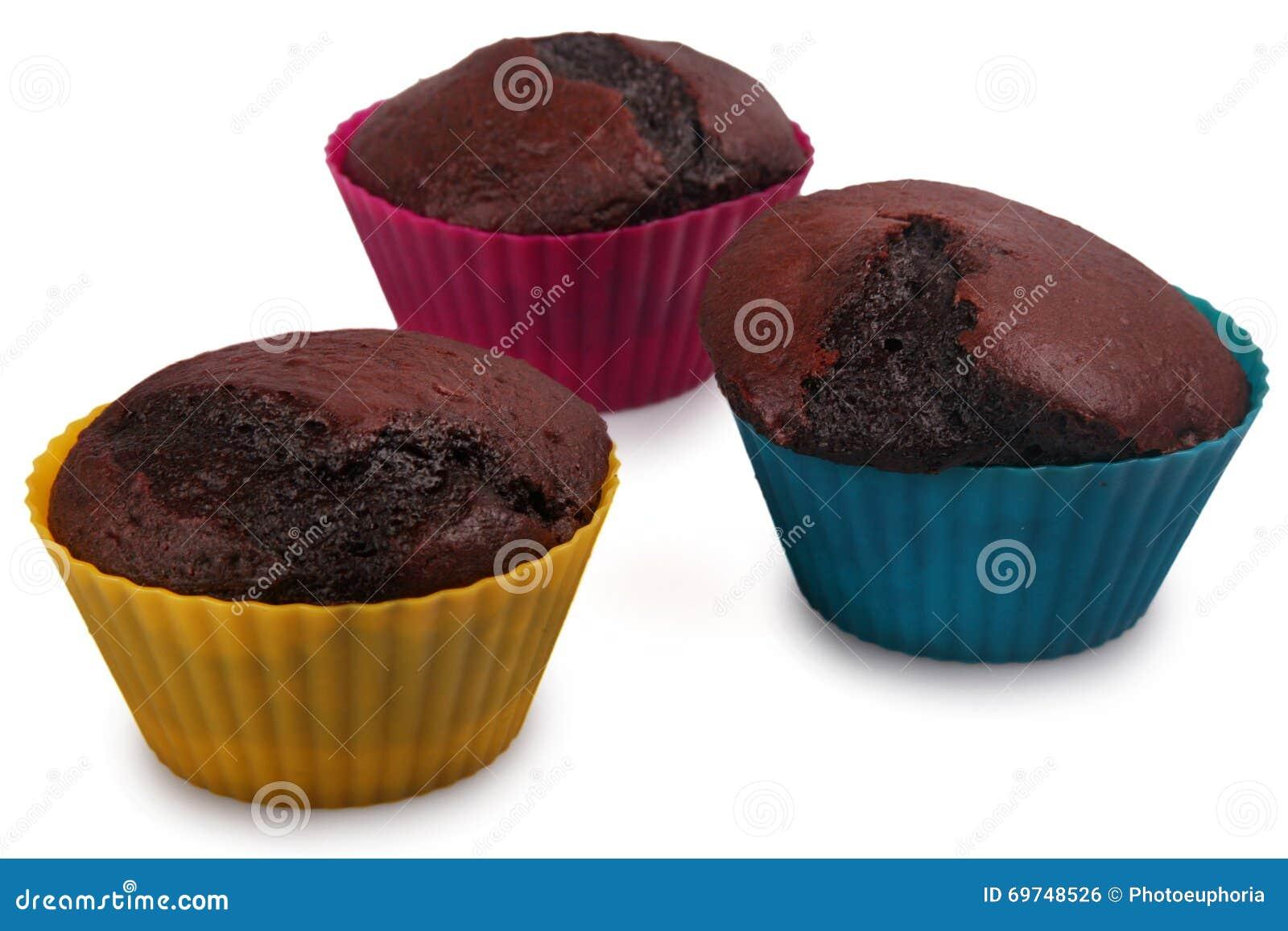 Mörka chokladmuffiner