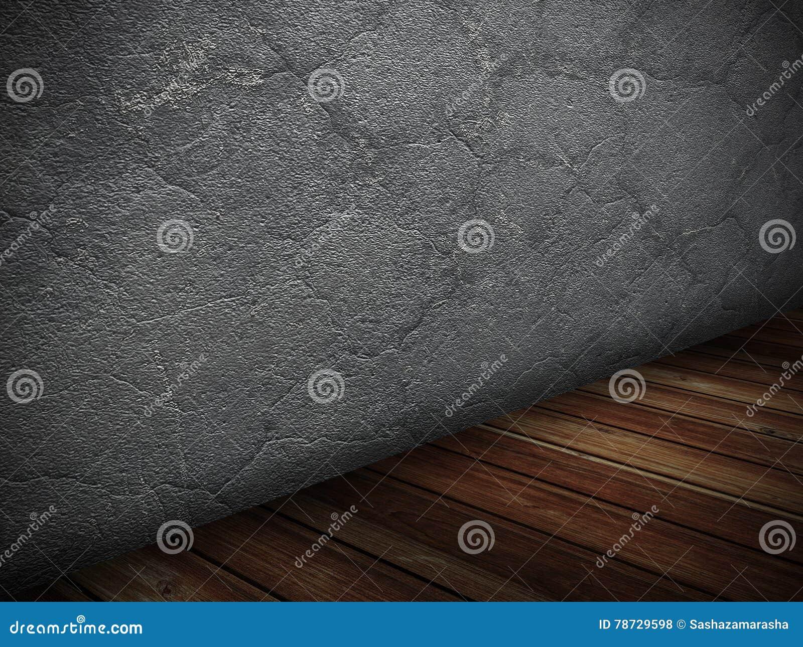 Mörka träkonkreta tömmer rum Kan användas som en vykort