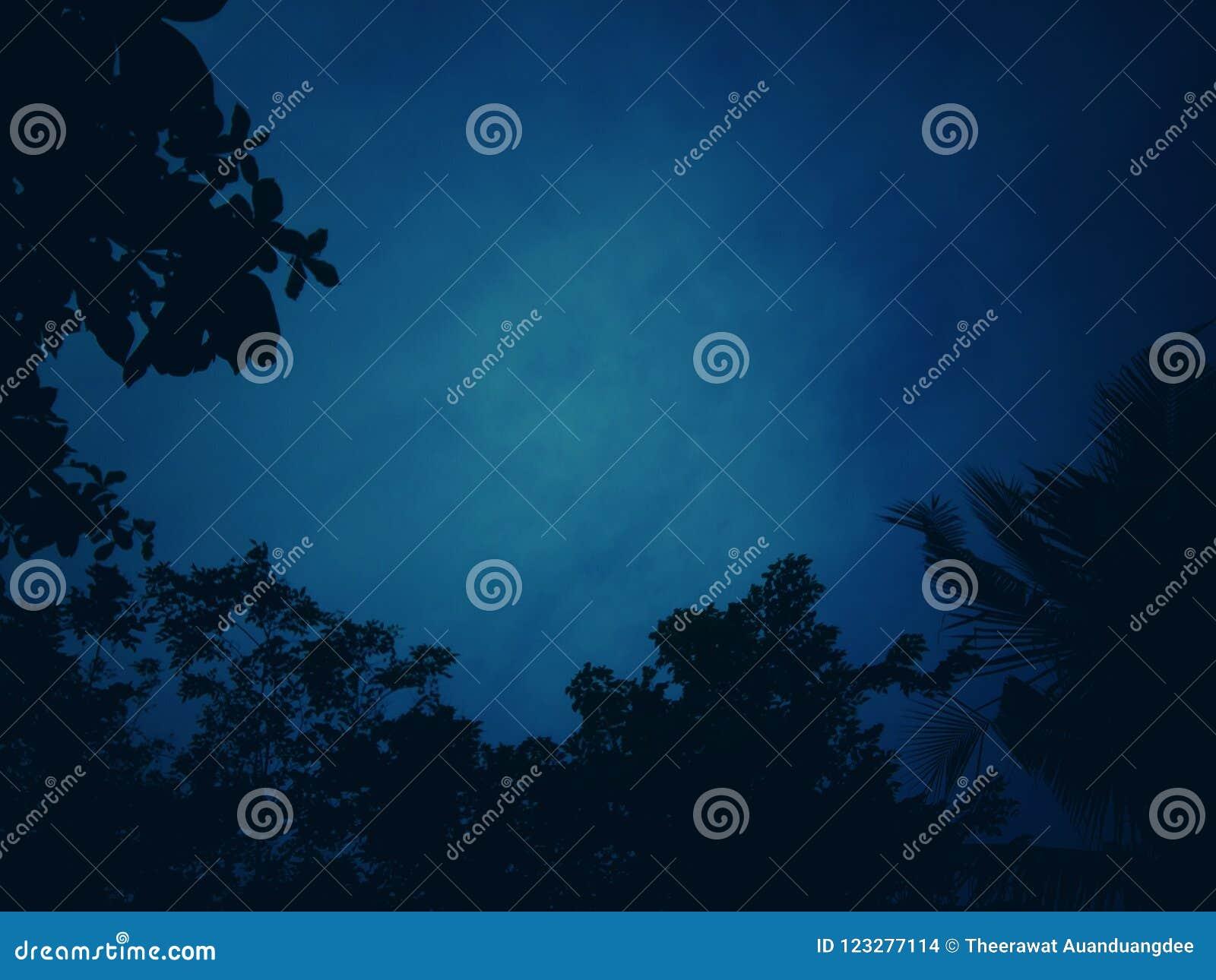 Mörker - blå signalbakgrund med modeller av skuggor,