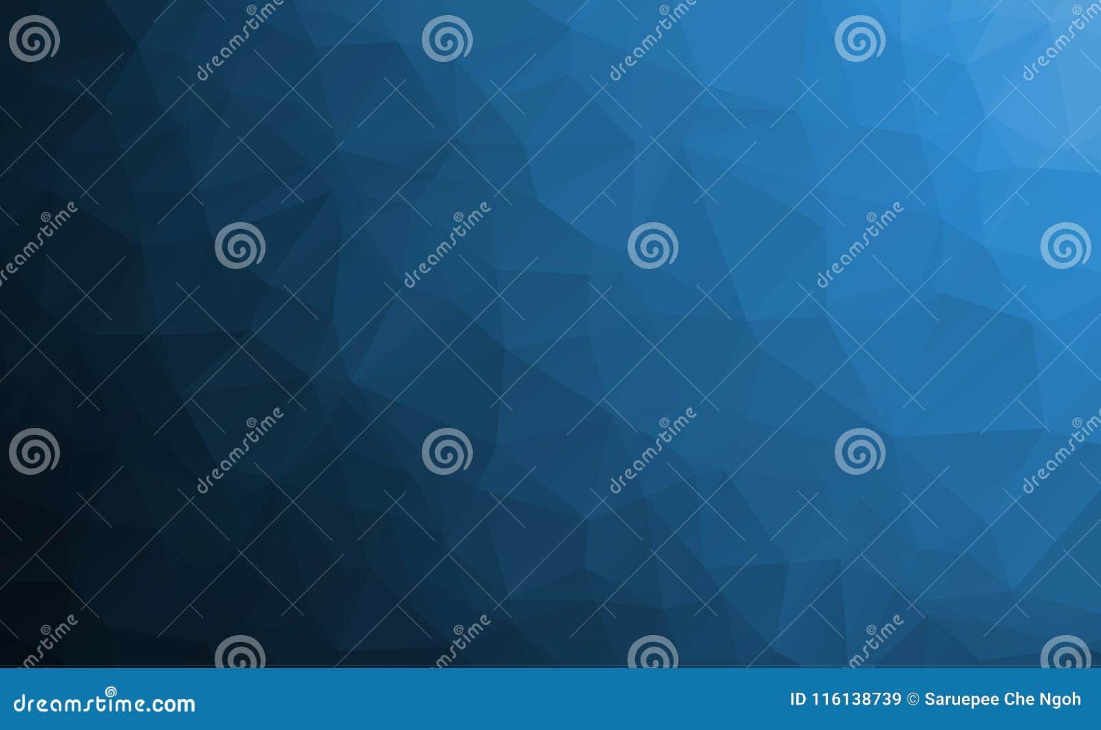 MÖRKER - blått texturerad polygonal bakgrund för vektor abstrakt begrepp