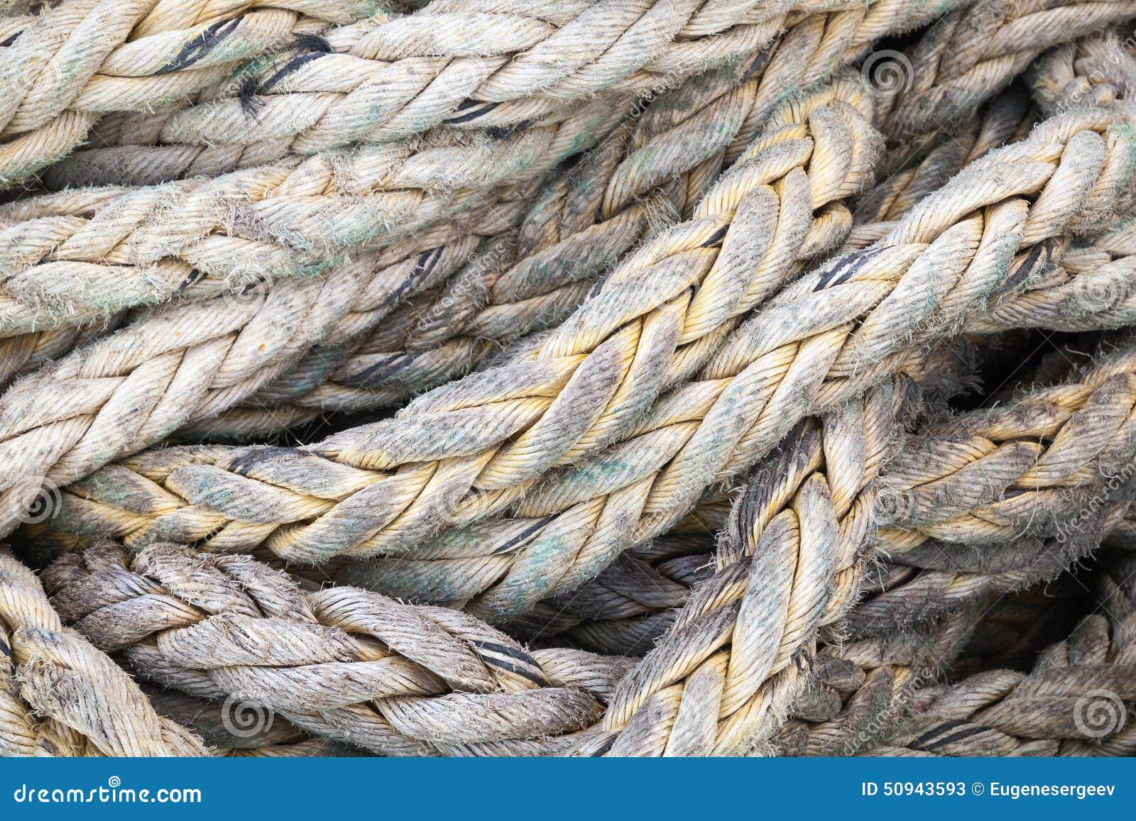 Mörker - grått nautiskt rep, bakgrundstextur