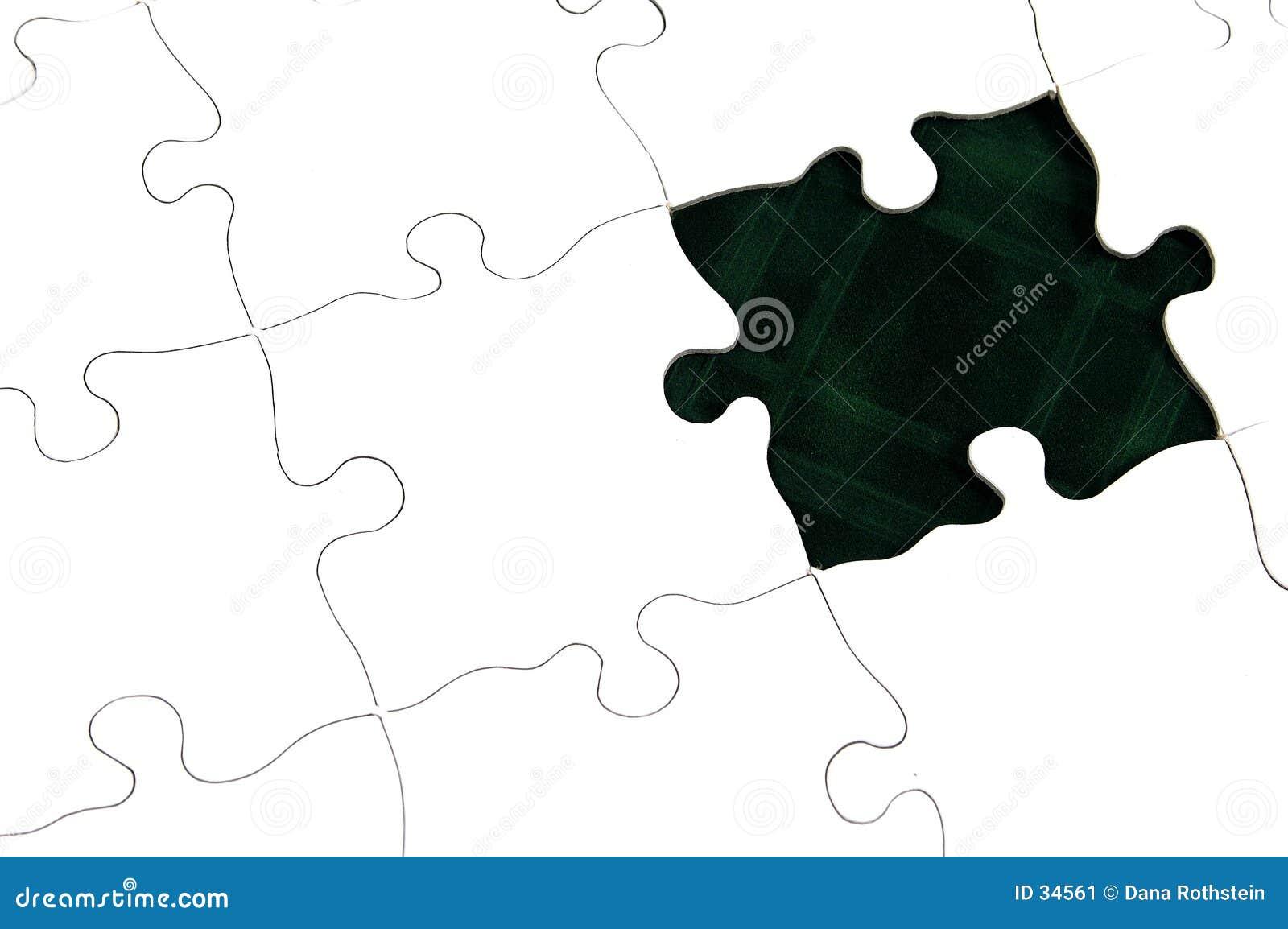 Mörkt - grönt pussel