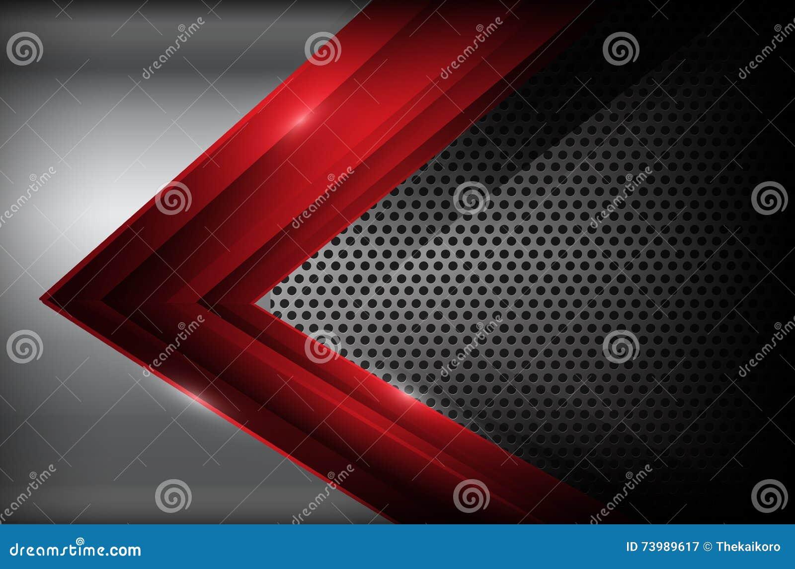 Mörkt kromstål och den röda överlappningsbeståndsdelen gör sammandrag bakgrund ve