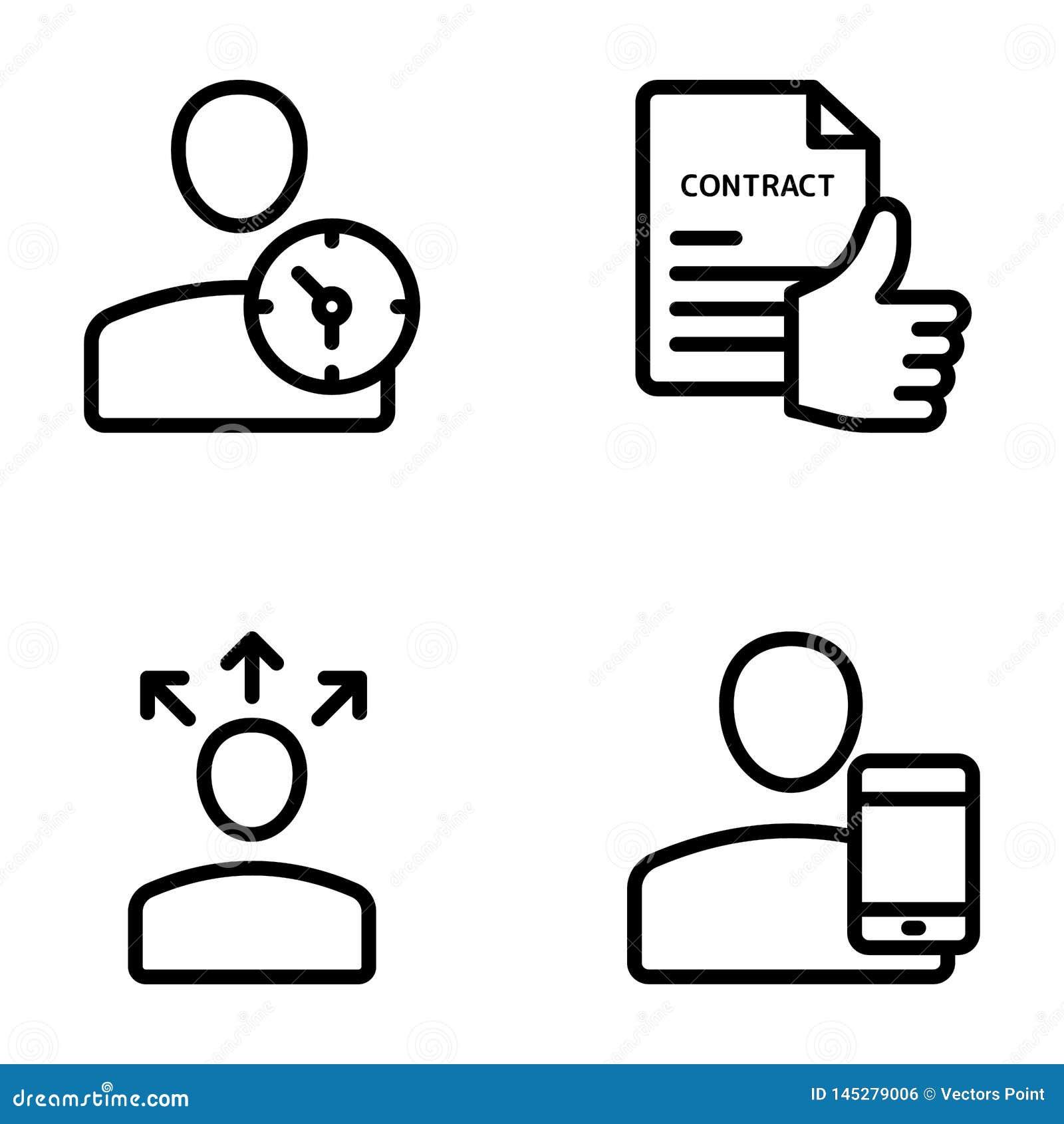 Möte arbetsplats, affärskommunikationslinje vektorer