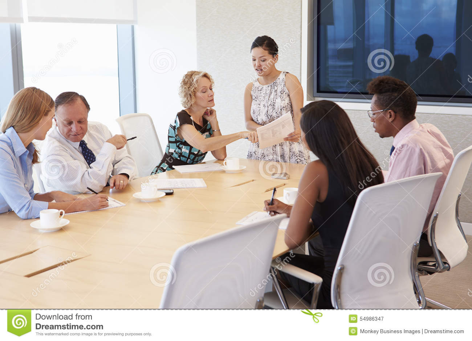 Möte för affärskvinnaBy Screen Addressing styrelse