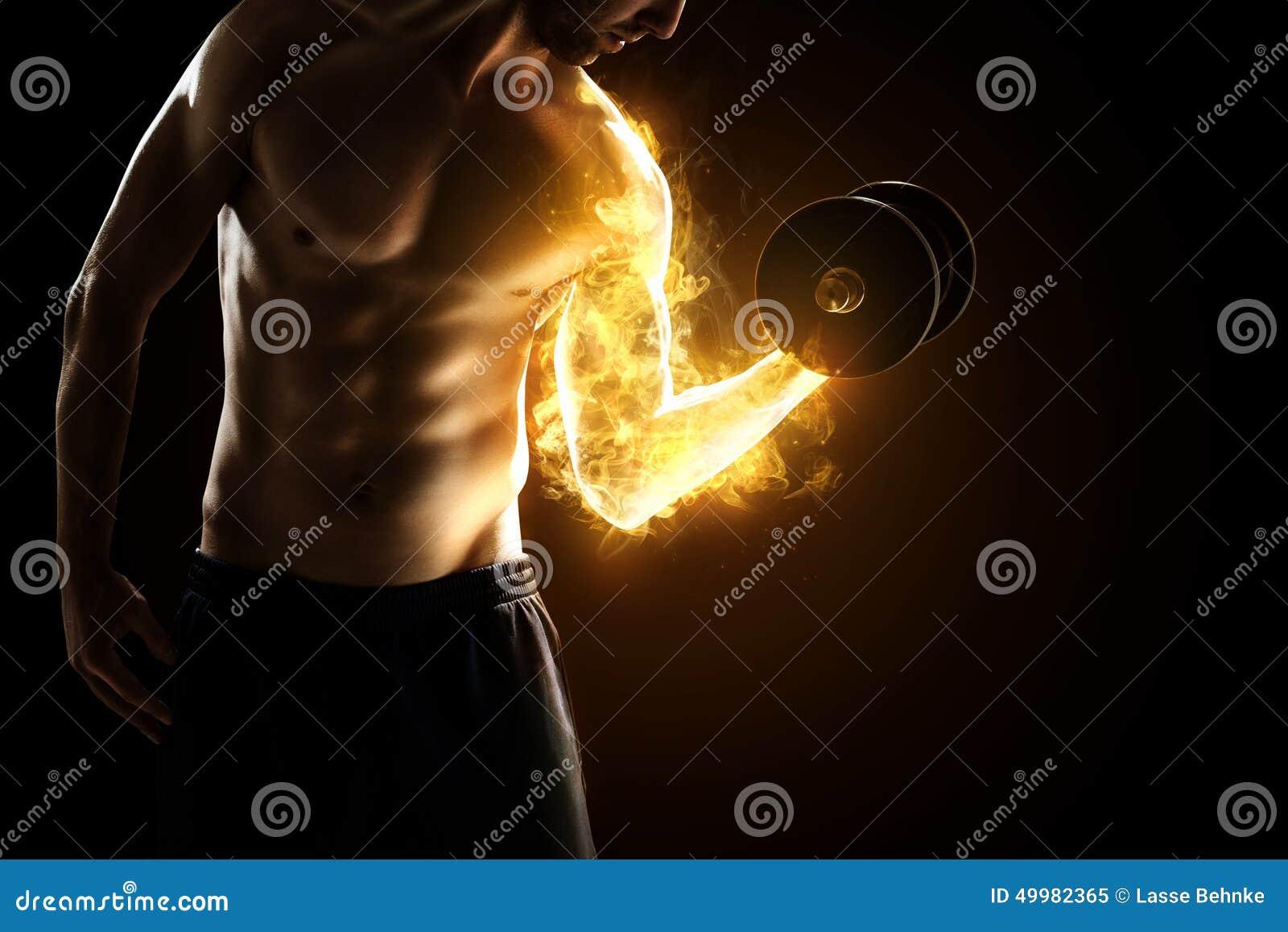 Músculos ardentes