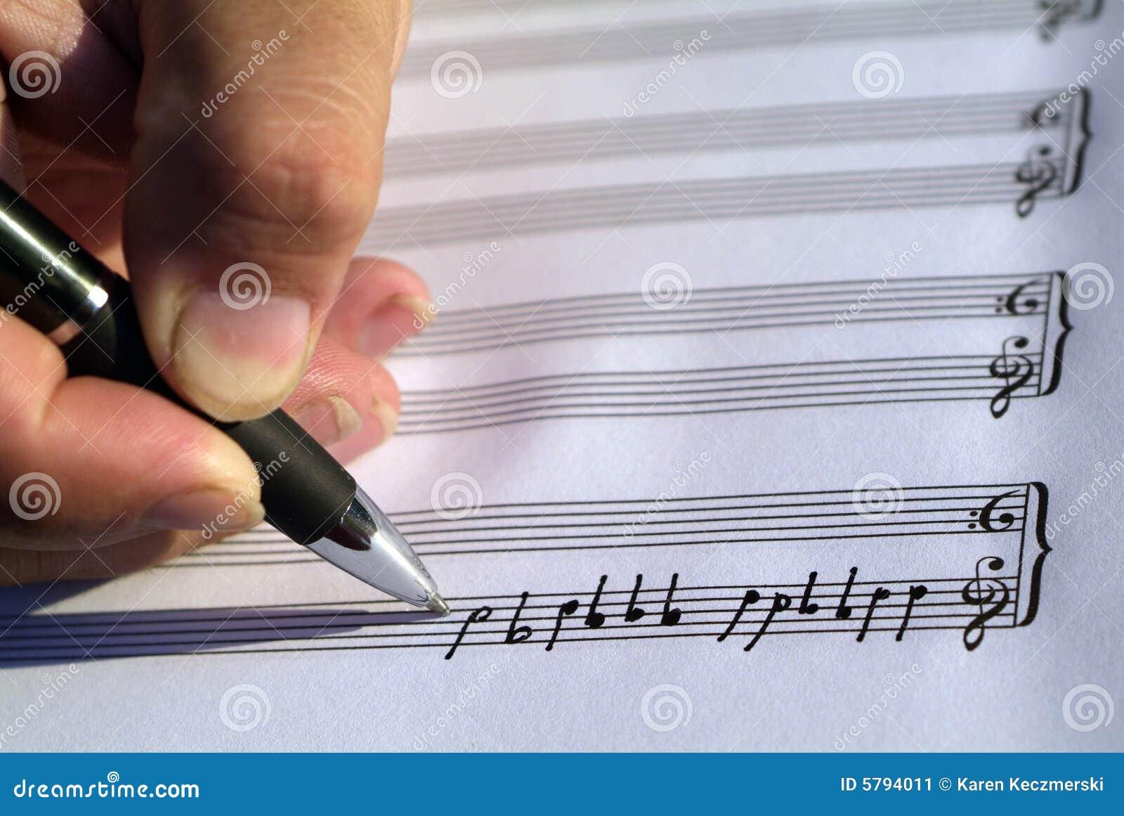 Música creativa de la escritura
