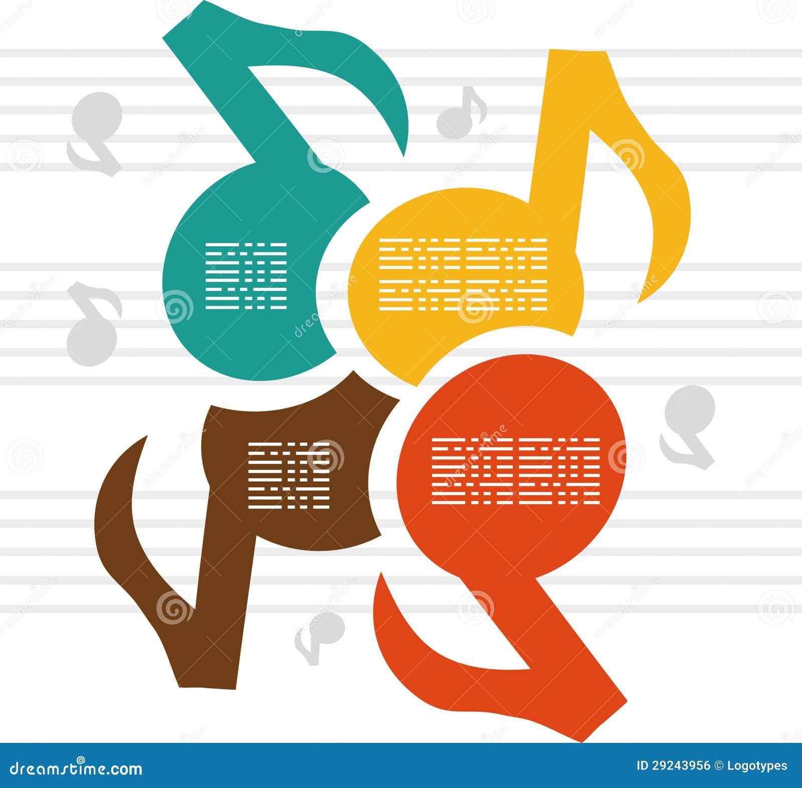 Download A Música Das Notas Colore O Fundo Ilustração Stock - Ilustração de opção, bandeira: 29243956