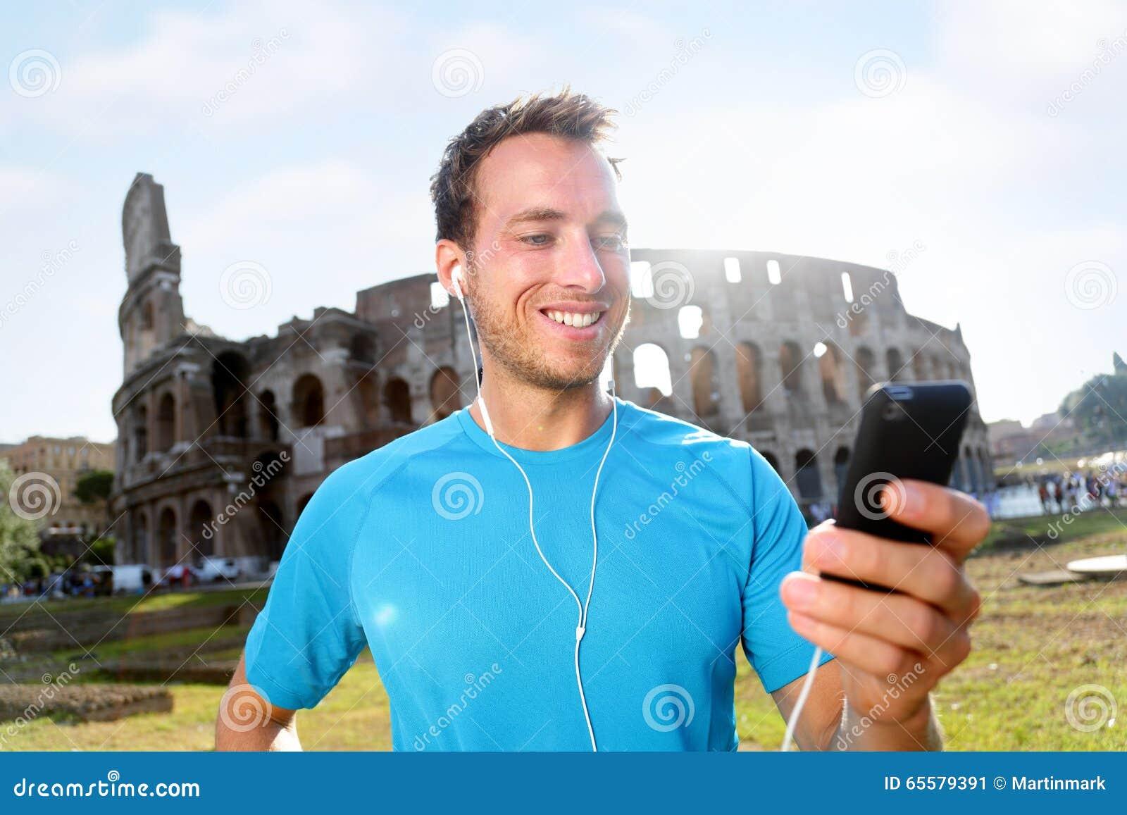 Música de escuta do basculador feliz contra Colosseum