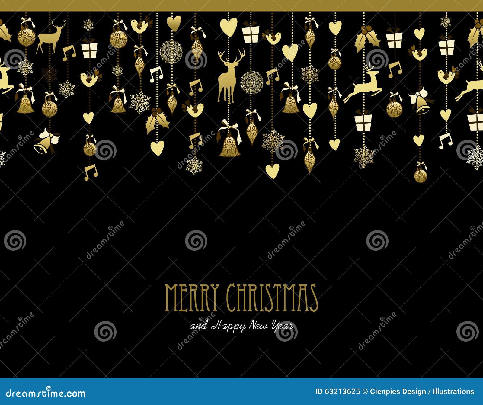 Música de los ciervos de la nieve del oro de la decoración de la Feliz Navidad