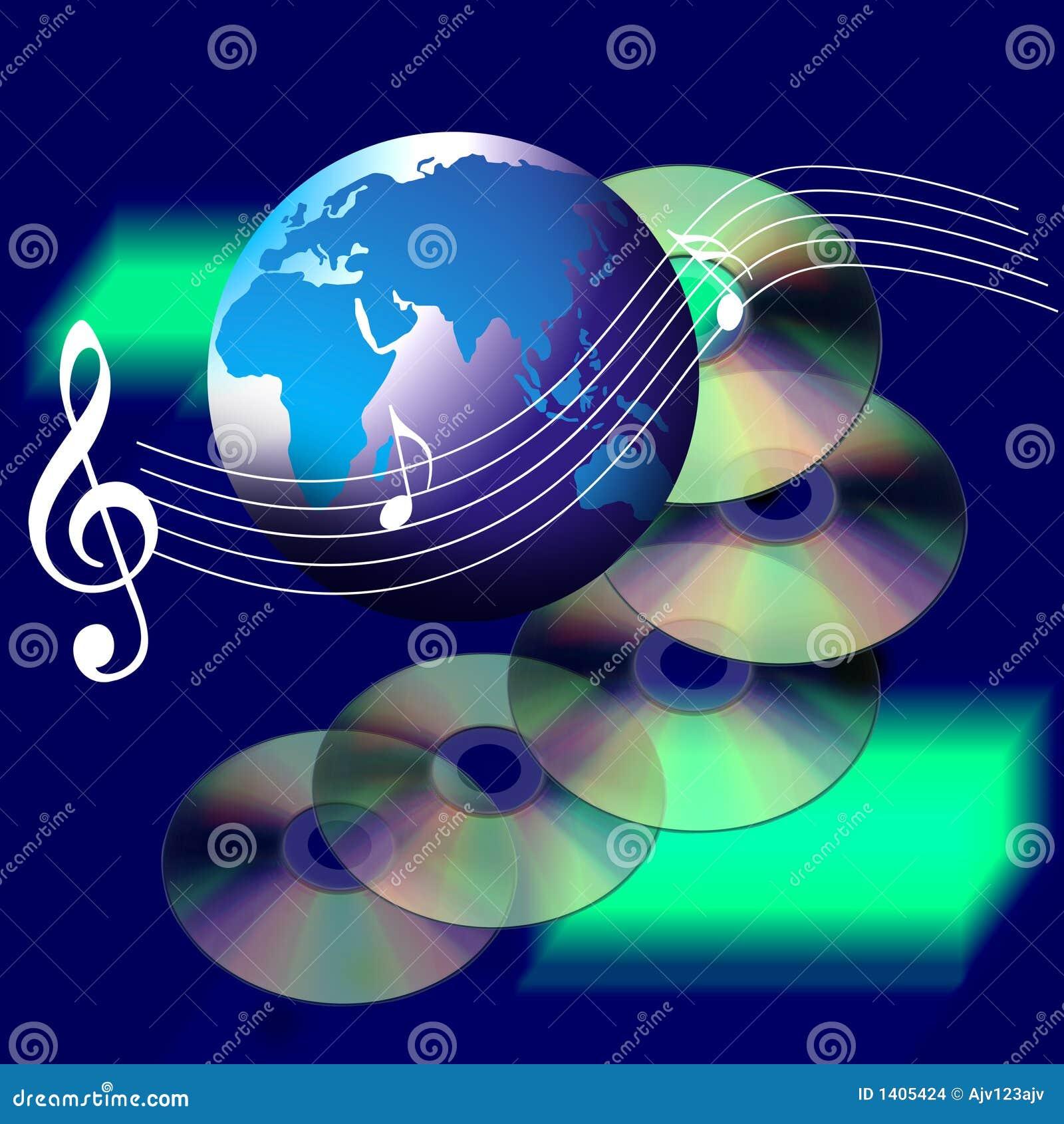 Música e Cd do mundo do Internet