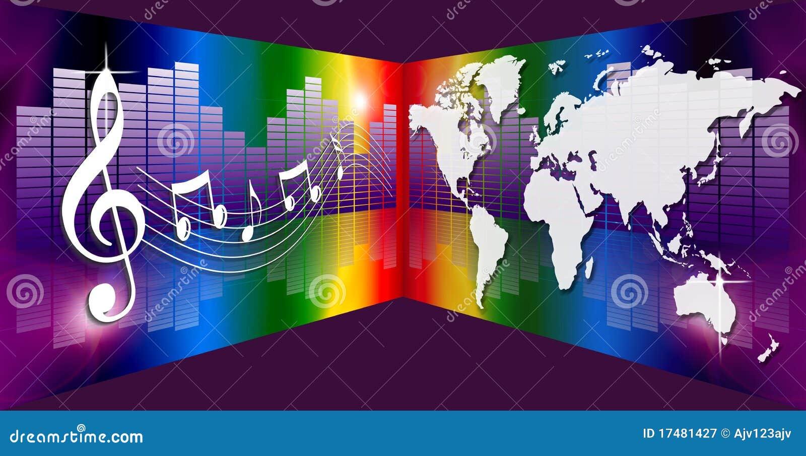 Música gráfica do mundo do equalizador do espectro