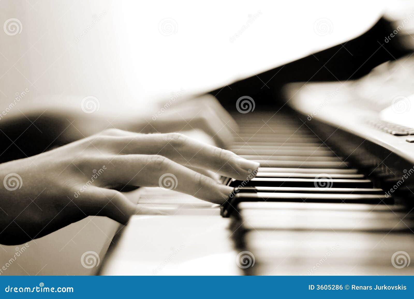 Música macia do piano
