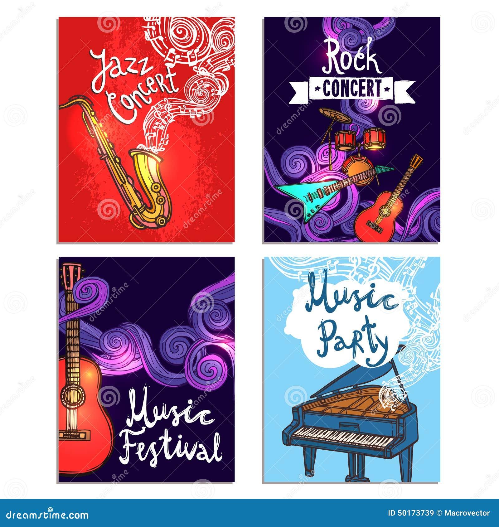 Música Mini Poster Set