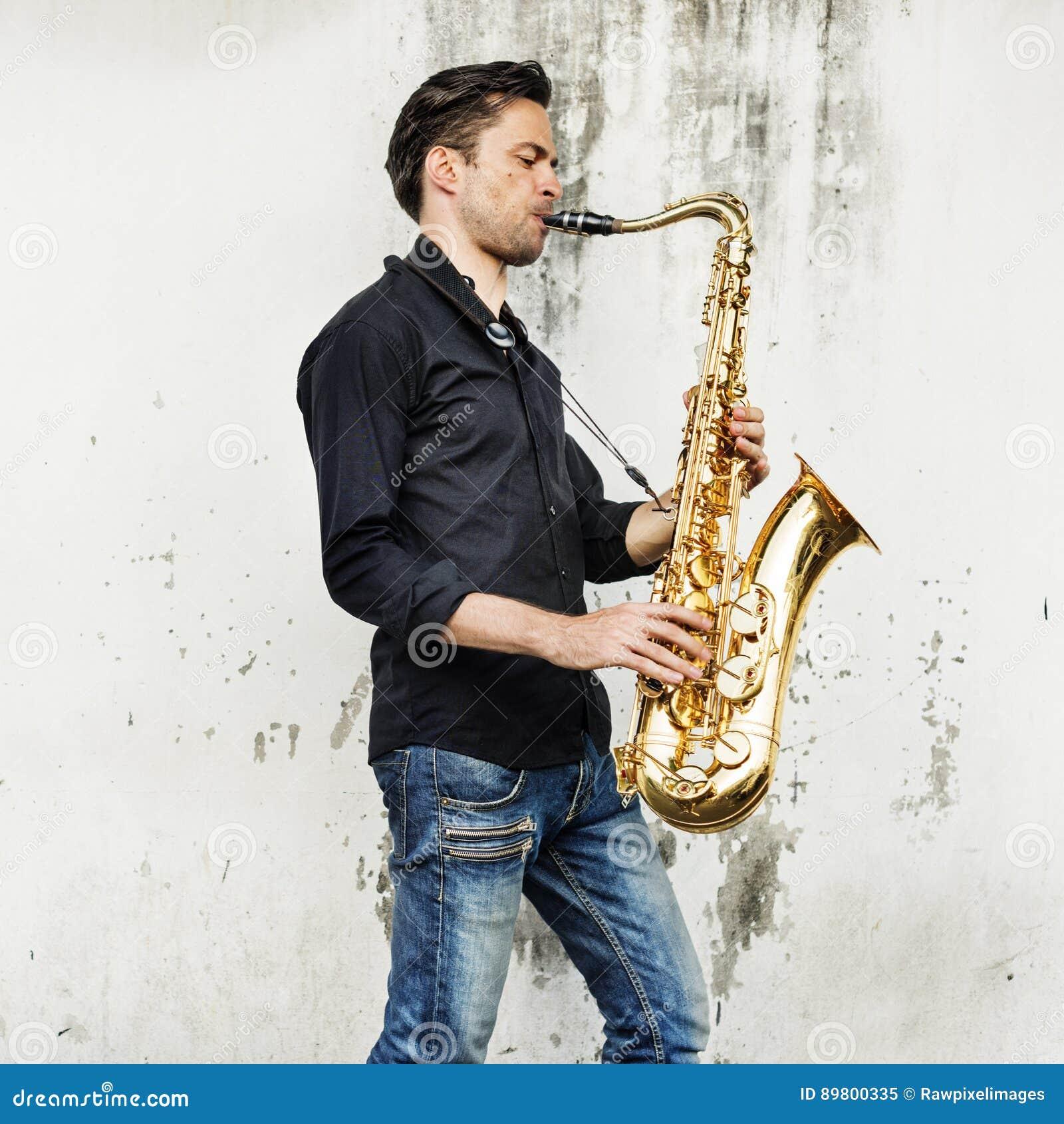 Músico Sax Concept de Alto Saxophone Artist Classical Jazz