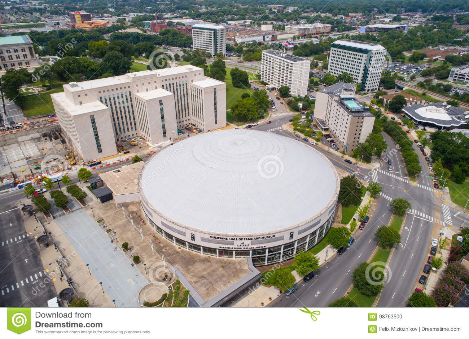 Músicos aéreos salón de la fama y museo de Nashville de la imagen
