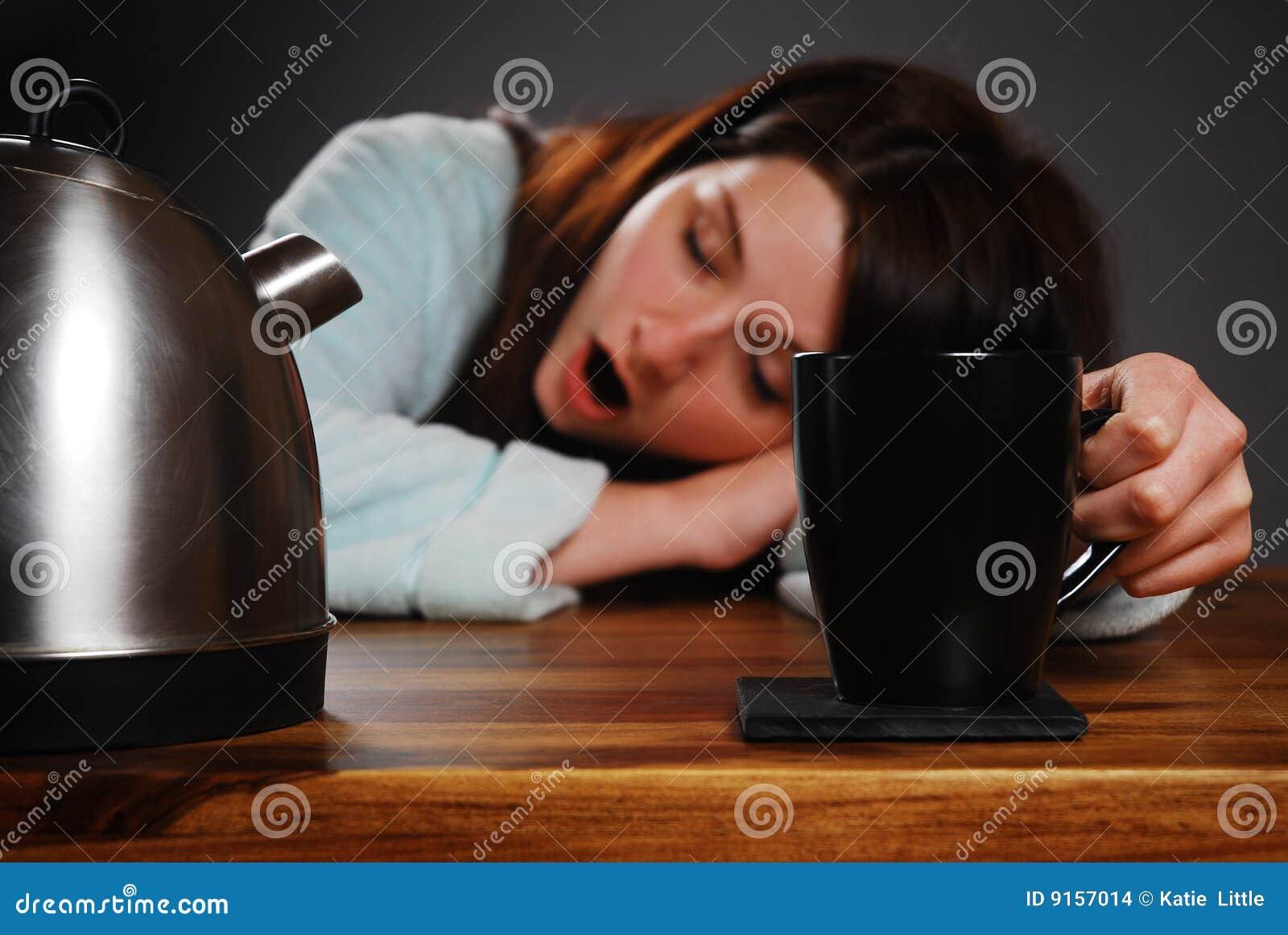 Müde Frau