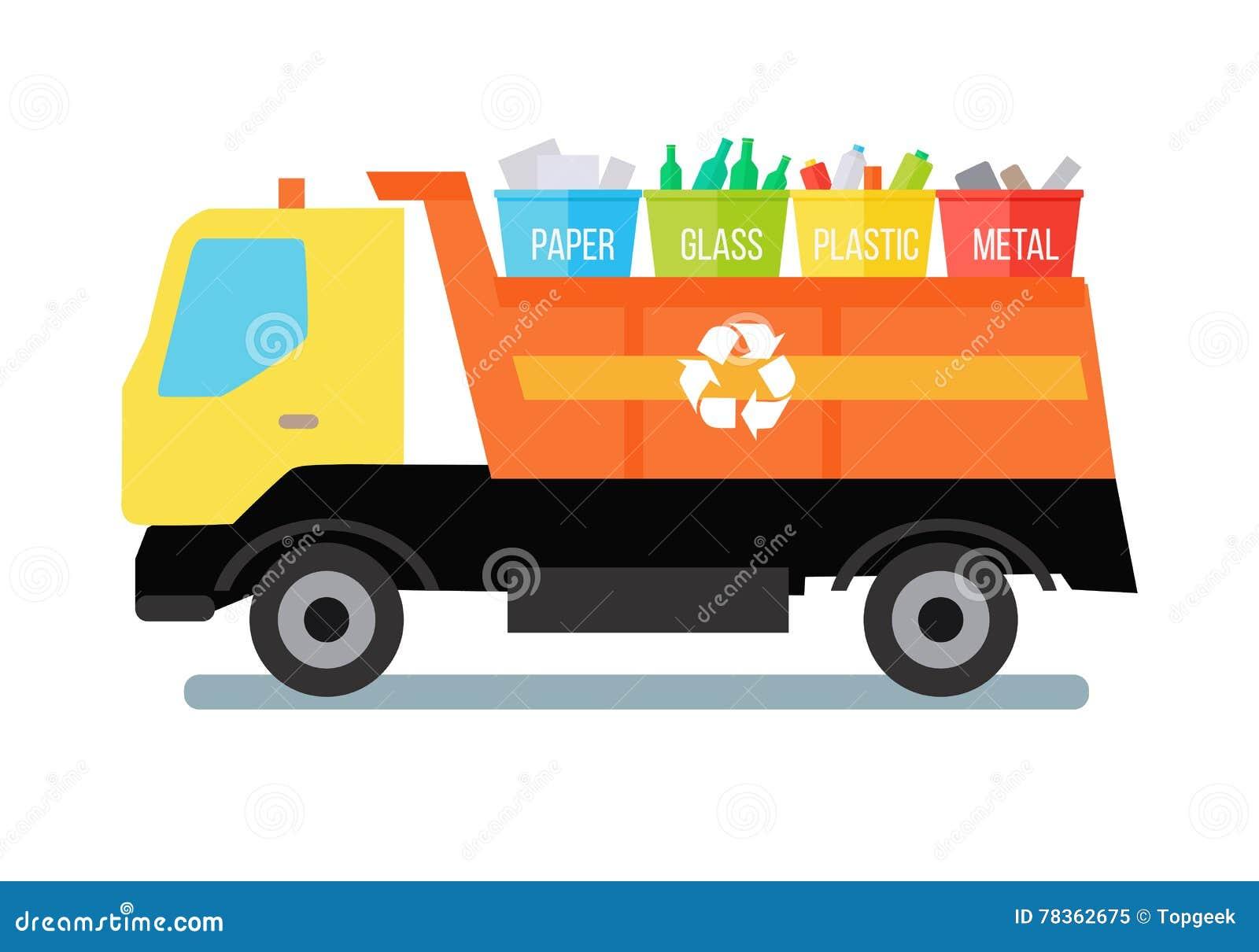 Müllwagen mit Abfall
