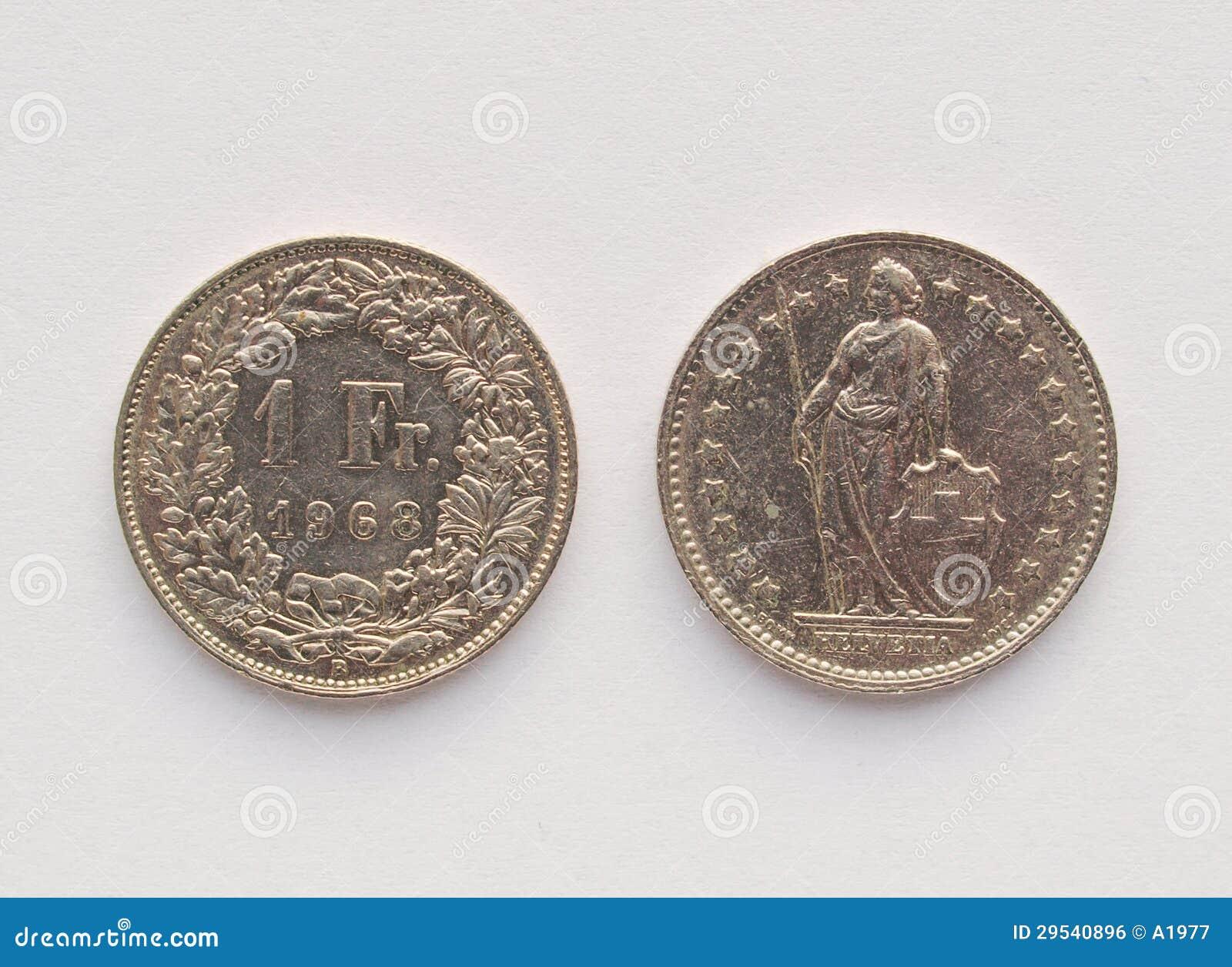 Münze Des Schweizer Franken Chf Stockfoto Bild Von Zugelassen