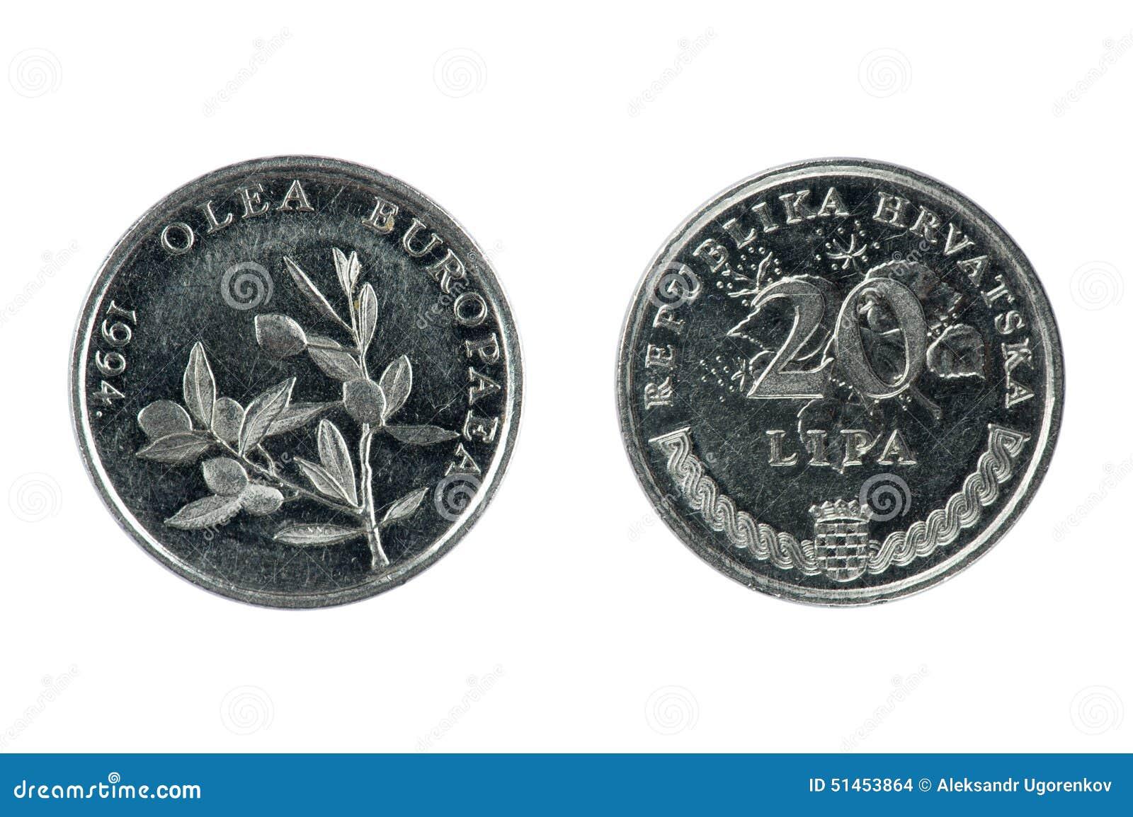 Münze Kroatien Stockfoto Bild Von Weinlese Collect 51453864