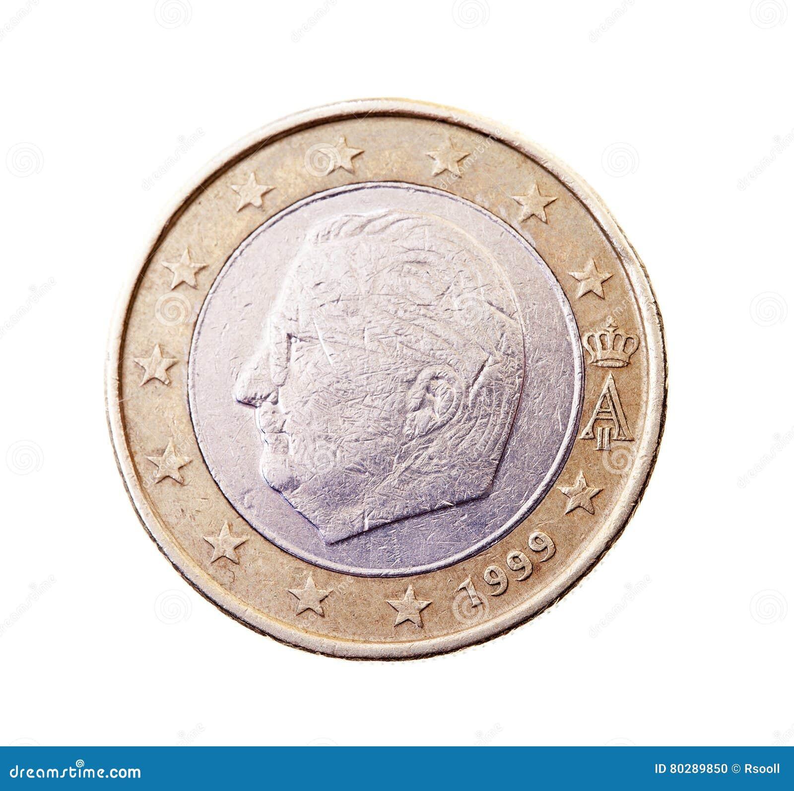 Münze Wert Einen Euro Stockfoto Bild Von Investition 80289850