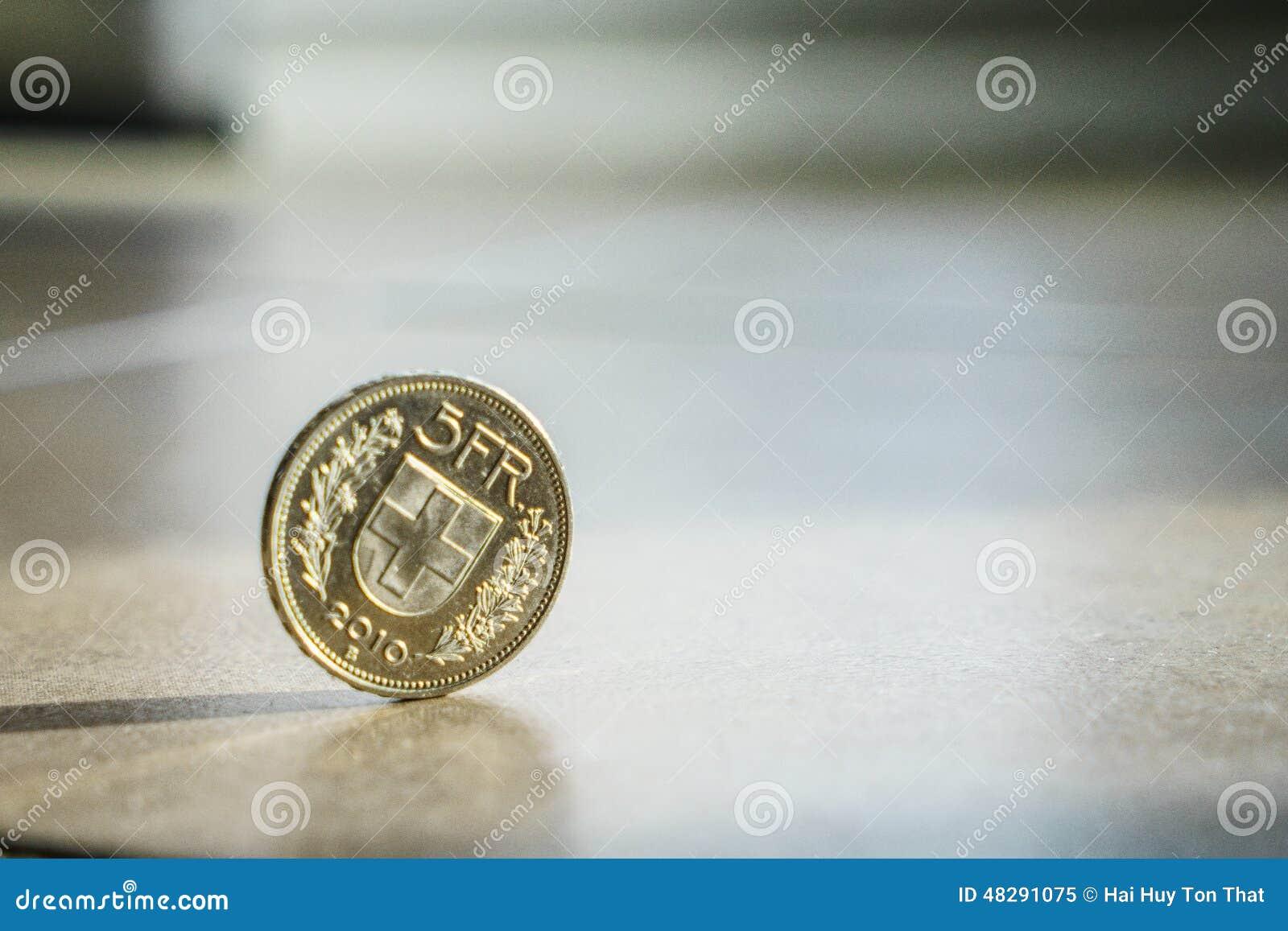 Münzen Des Schweizer Franc Stockbild Bild Von Kaufen 48291075