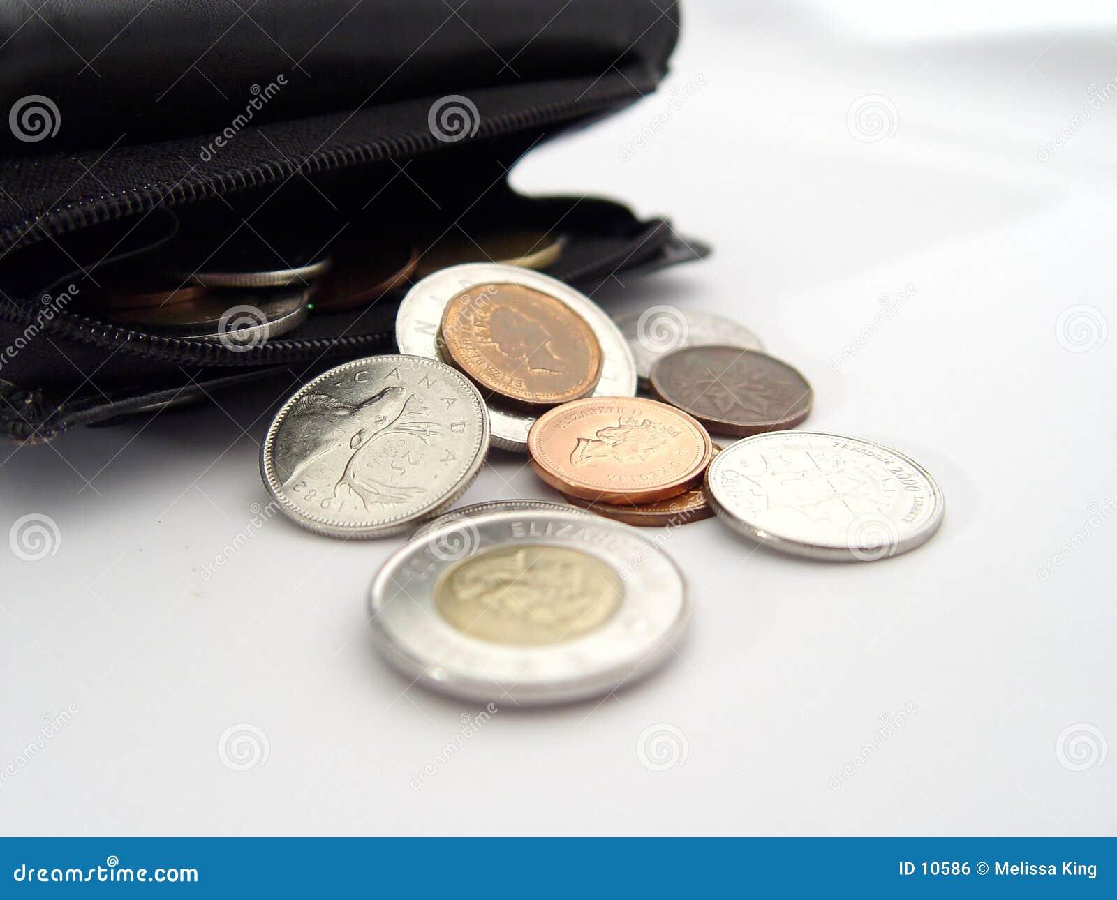 Münzen von der Mappe
