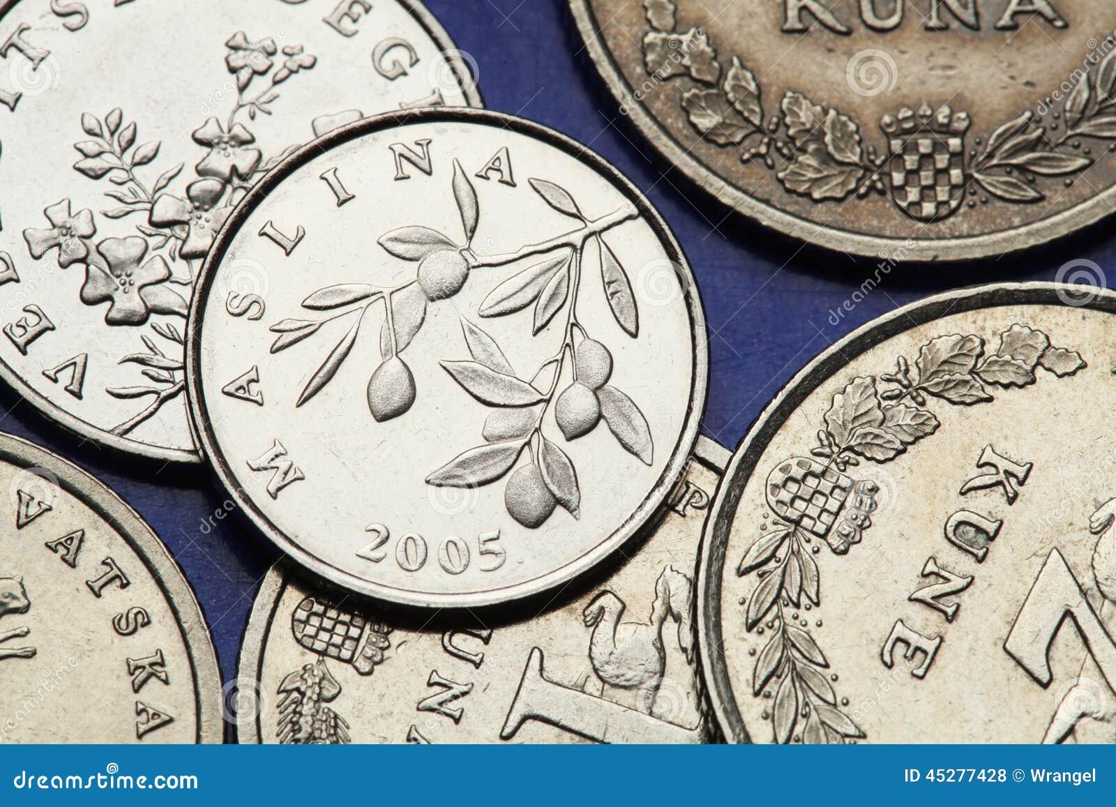 Münzen Von Kroatien Stockfoto Bild Von Kroatisch Reise 45277428