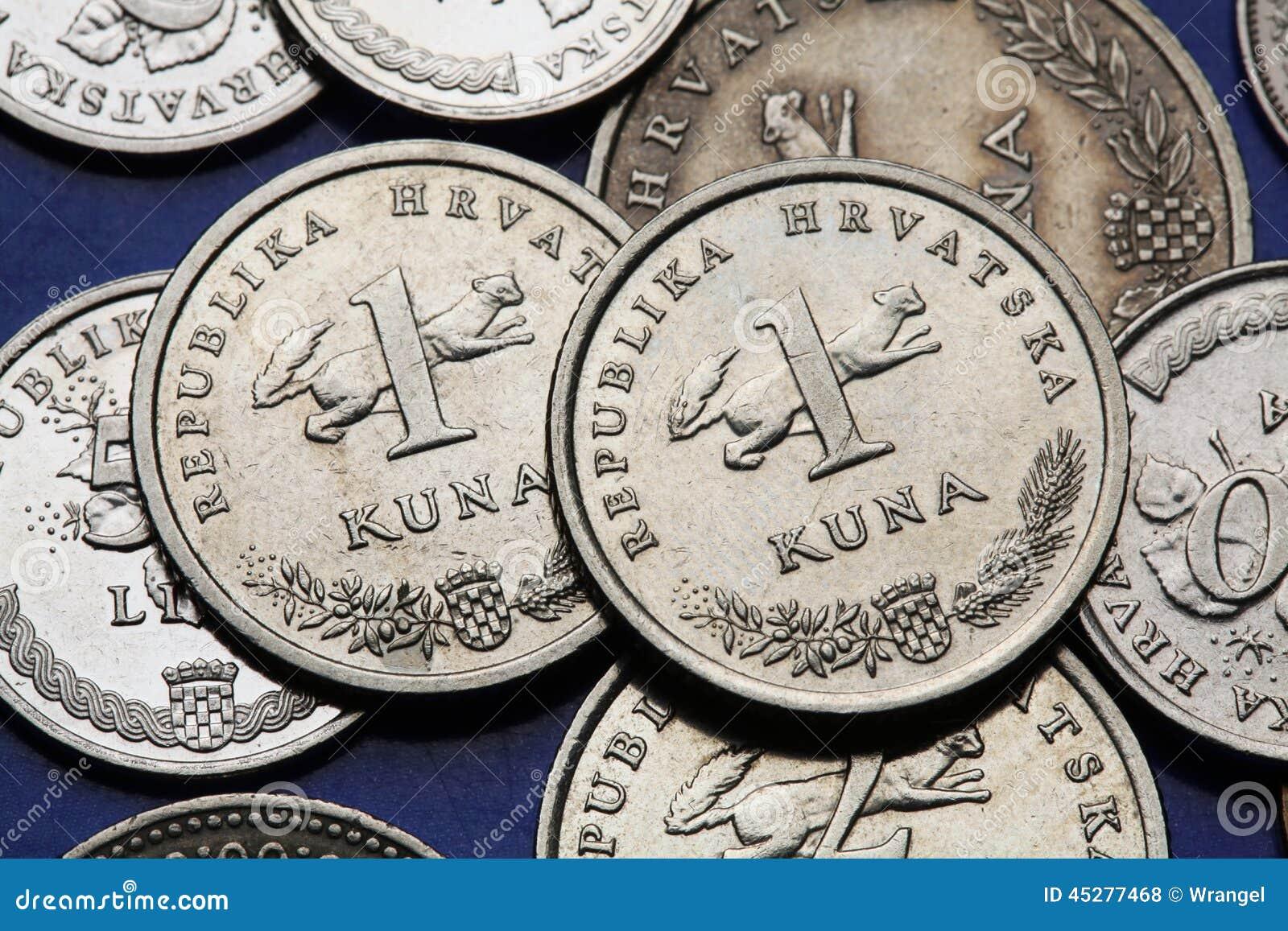 Münzen Von Kroatien Stockfoto Bild Von Feld Emblem 45277468