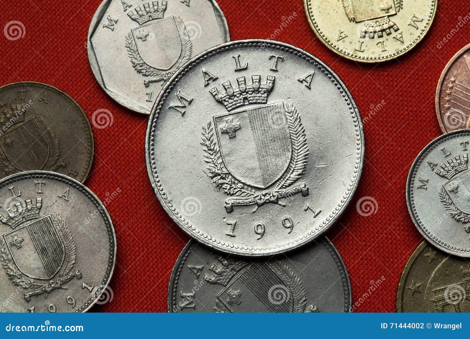 Münzen Von Malta Stockfoto Bild Von Metall Prägung 71444002