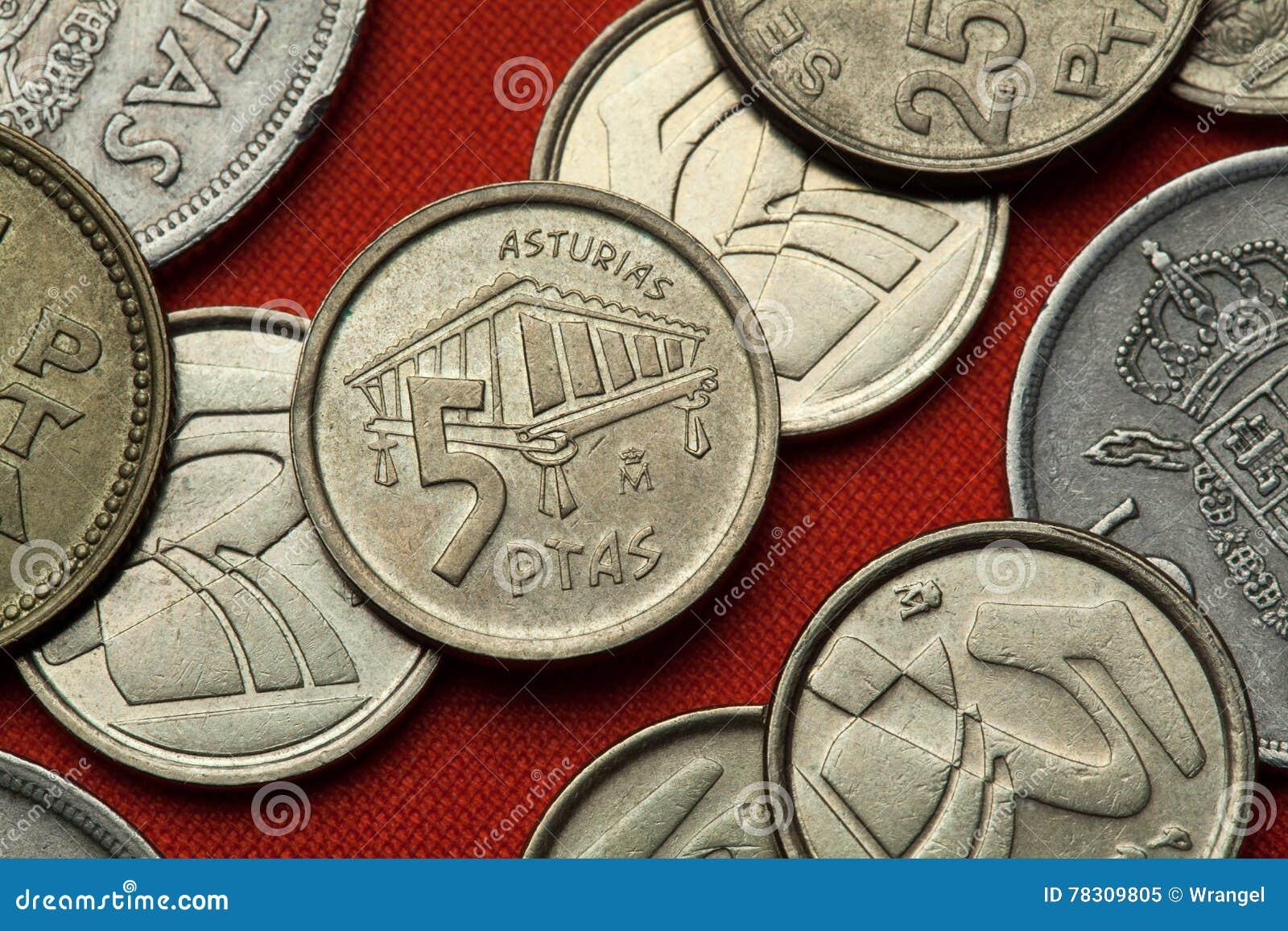 Münzen von Spanien Asturisches Getreidespeicher horreo