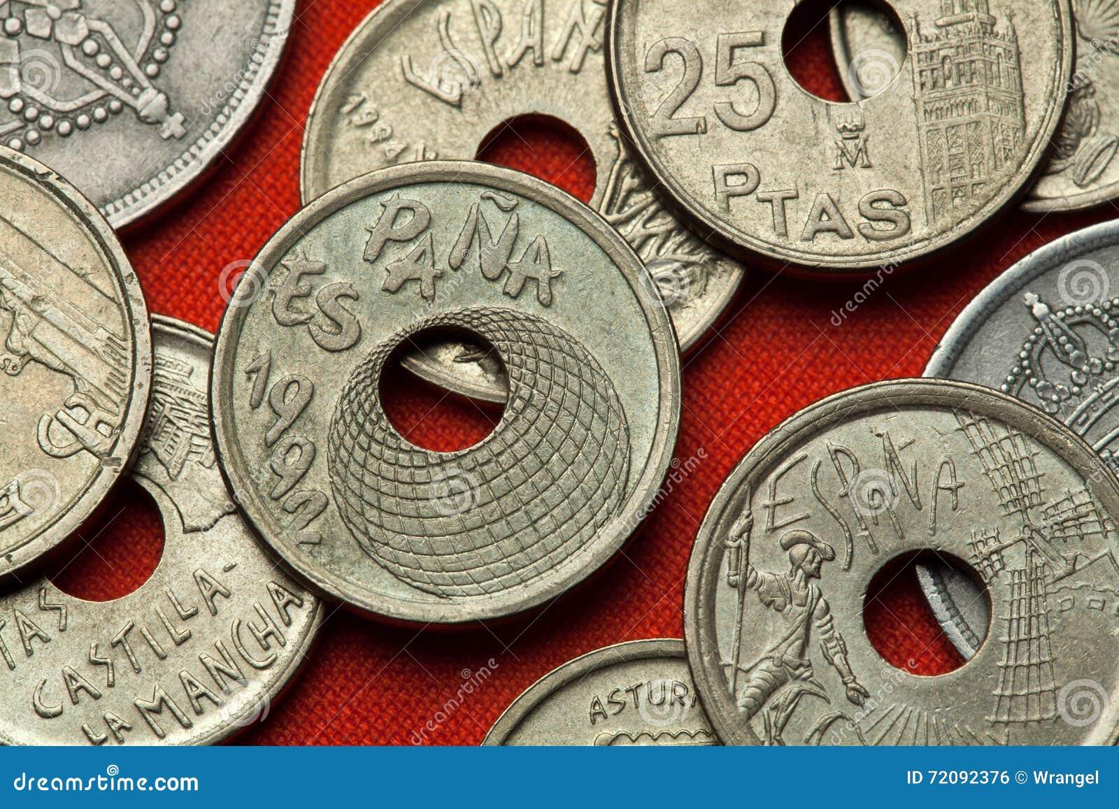 Münzen Von Spanien Sevilla Ausstellung 92 Stockfoto Bild Von Münze