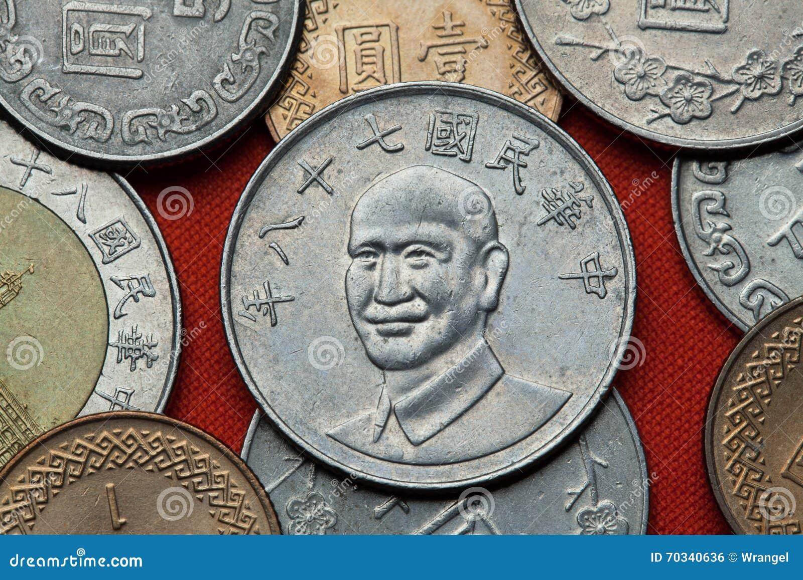 Münzen Von Taiwan Taiwan Präsident Chiang Kai Shek Stockfoto Bild